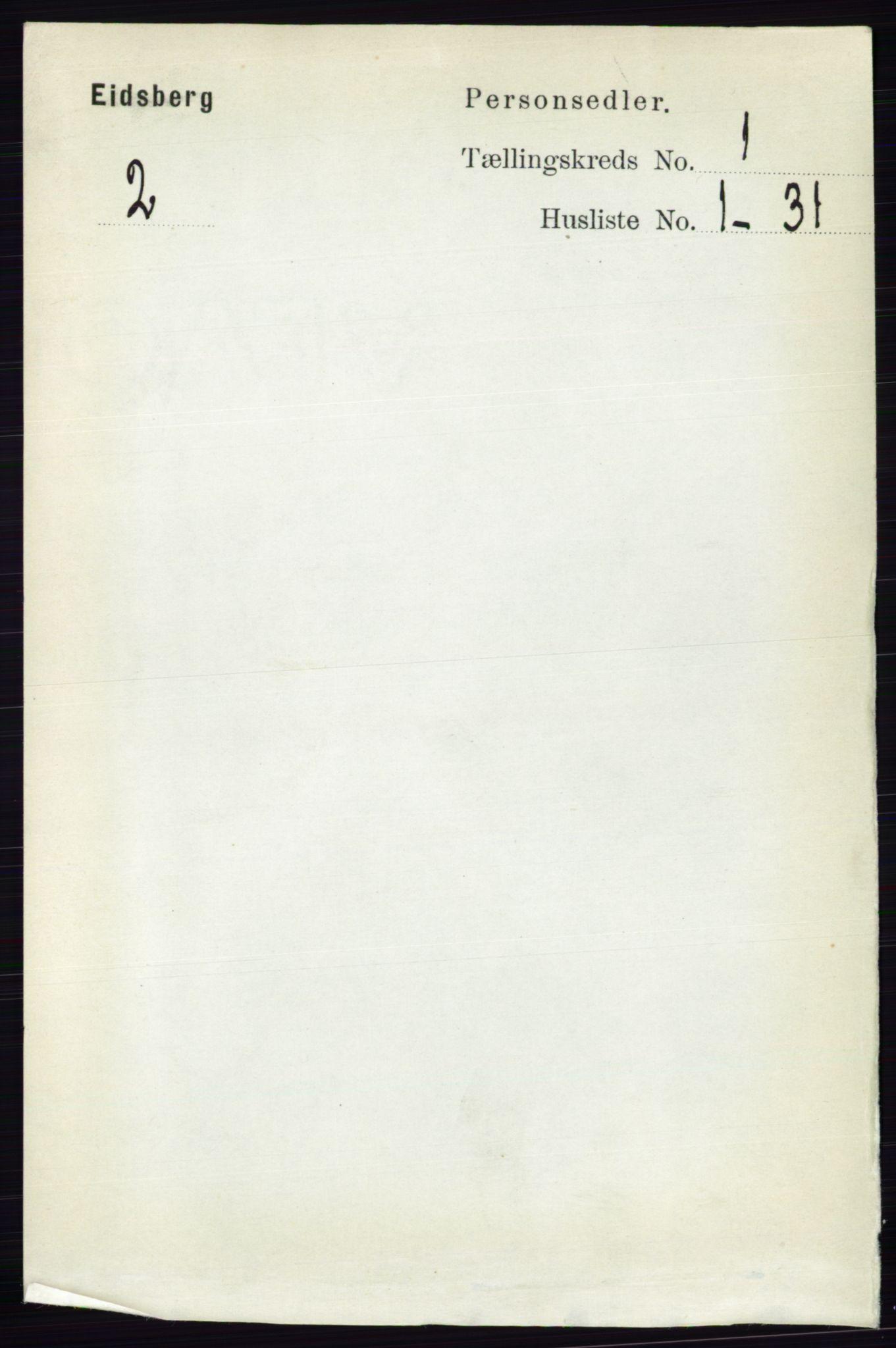 RA, Folketelling 1891 for 0125 Eidsberg herred, 1891, s. 138
