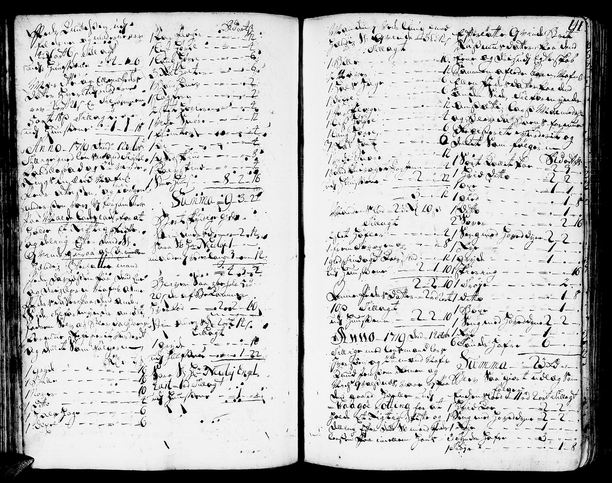 SAT, Romsdal sorenskriveri, 3/3A/L0006: Skifteprotokoll, 1718-1730, s. 140b-141a