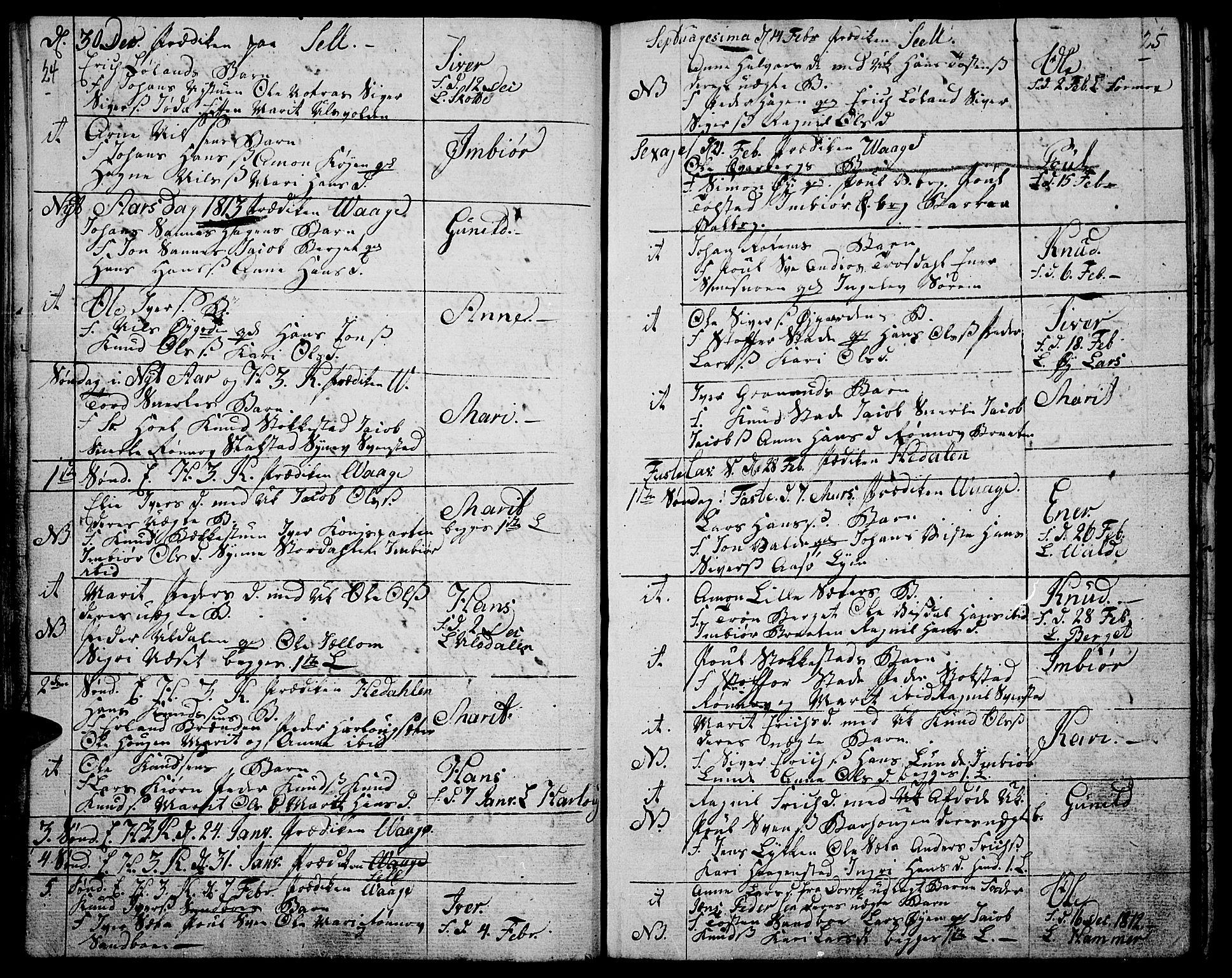 SAH, Vågå prestekontor, Ministerialbok nr. 2, 1810-1815, s. 24-25