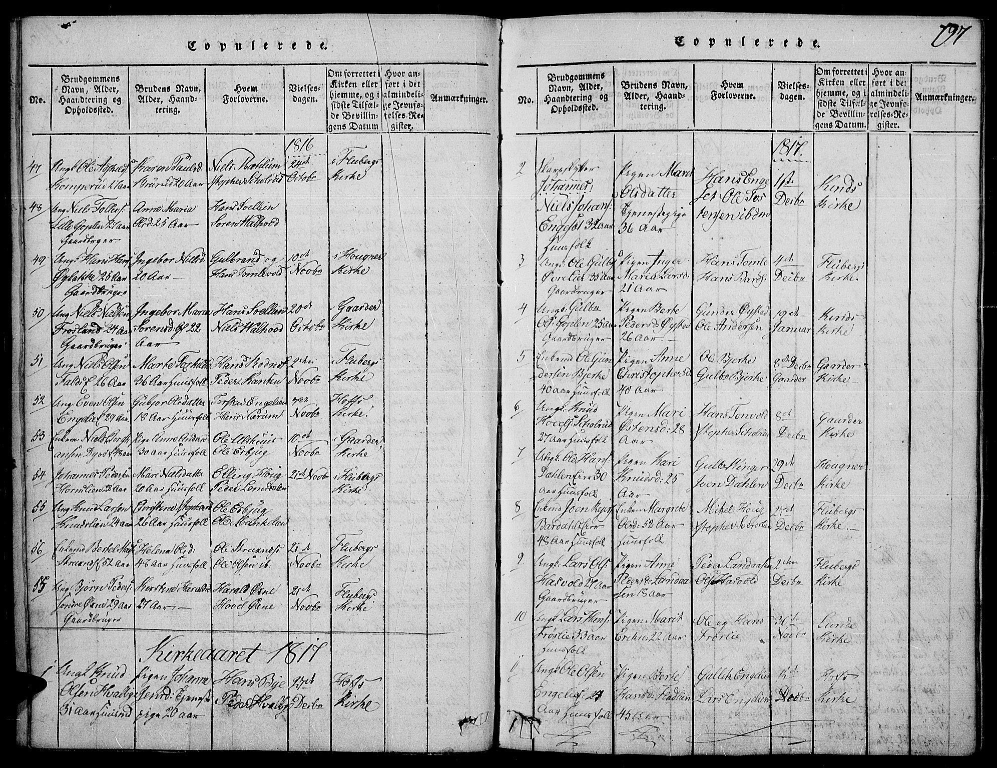 SAH, Land prestekontor, Ministerialbok nr. 7, 1814-1830, s. 197