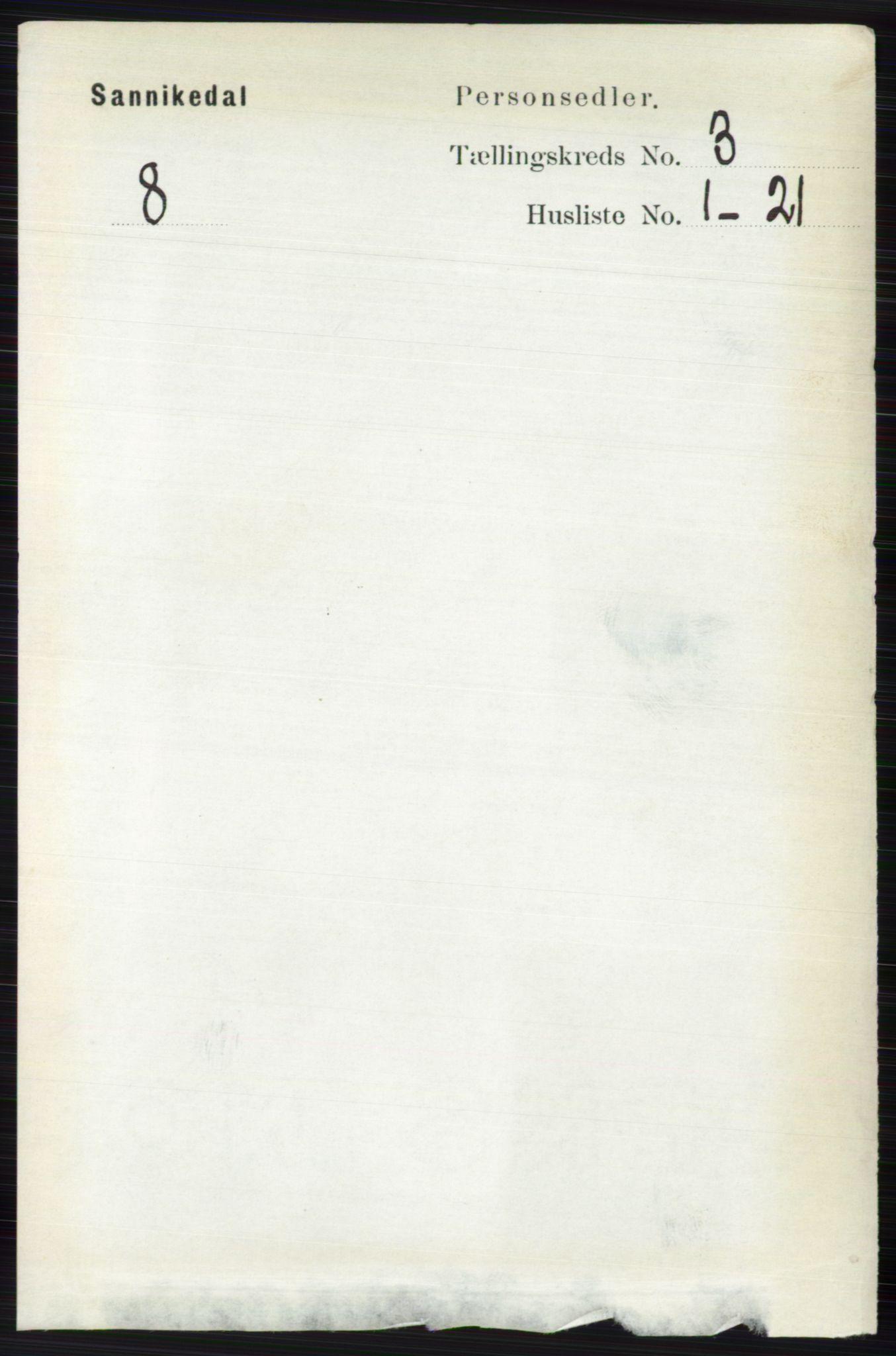 RA, Folketelling 1891 for 0816 Sannidal herred, 1891, s. 791