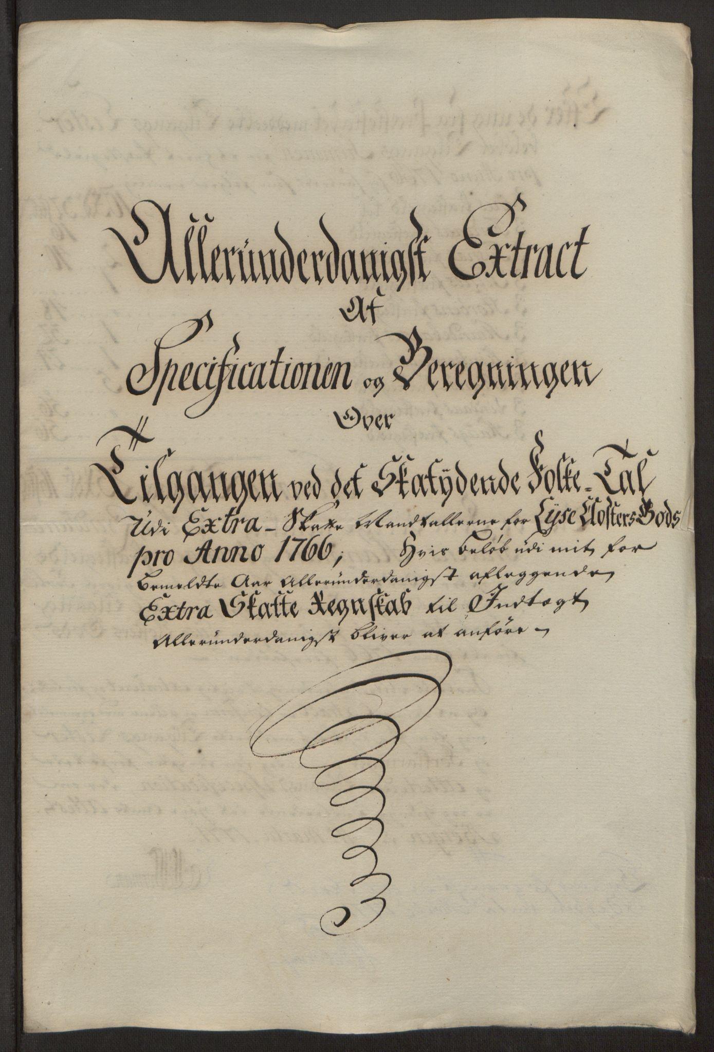 RA, Rentekammeret inntil 1814, Reviderte regnskaper, Fogderegnskap, R50/L3180: Ekstraskatten Lyse kloster, 1762-1783, s. 159
