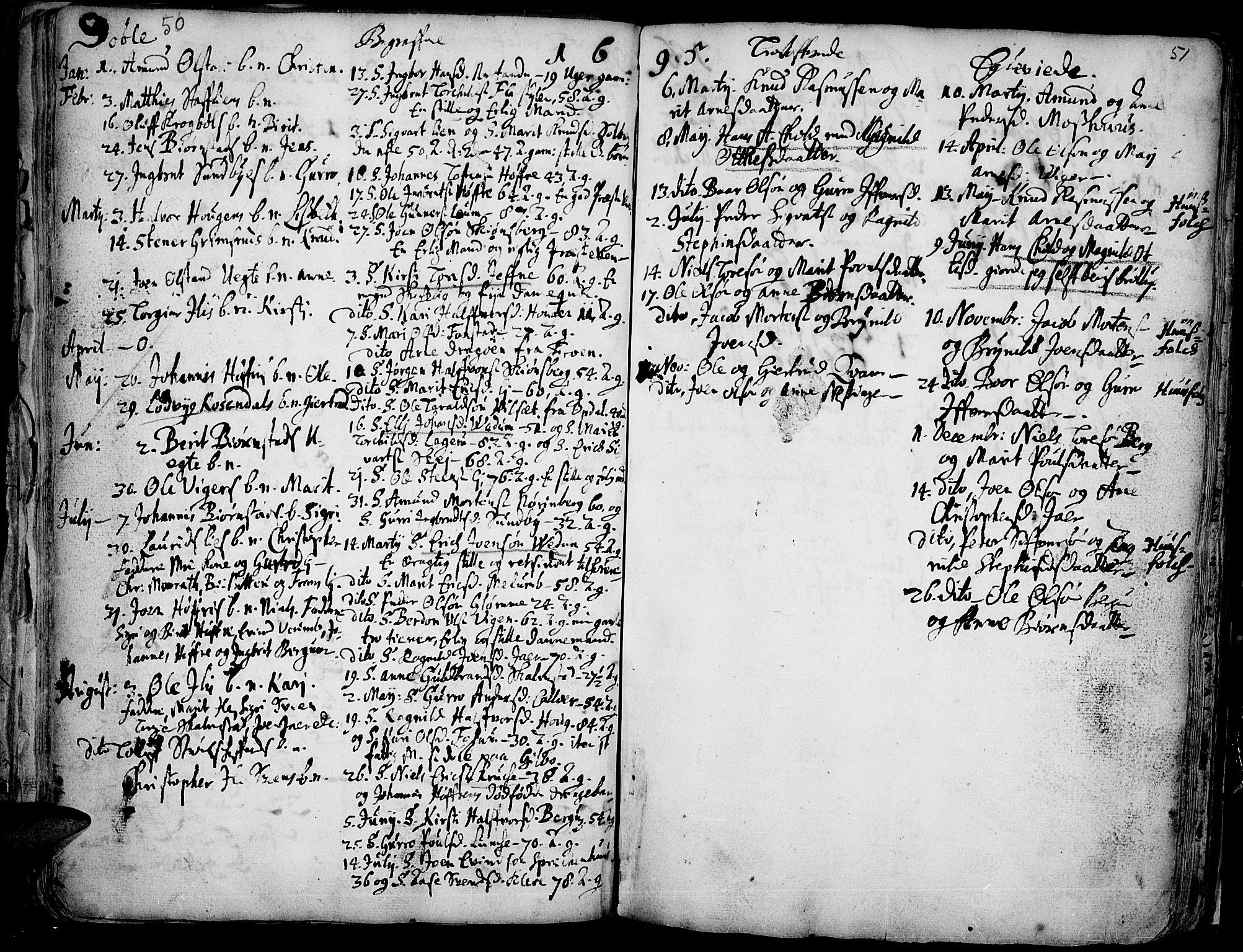 SAH, Øyer prestekontor, Ministerialbok nr. 1, 1671-1727, s. 50-51