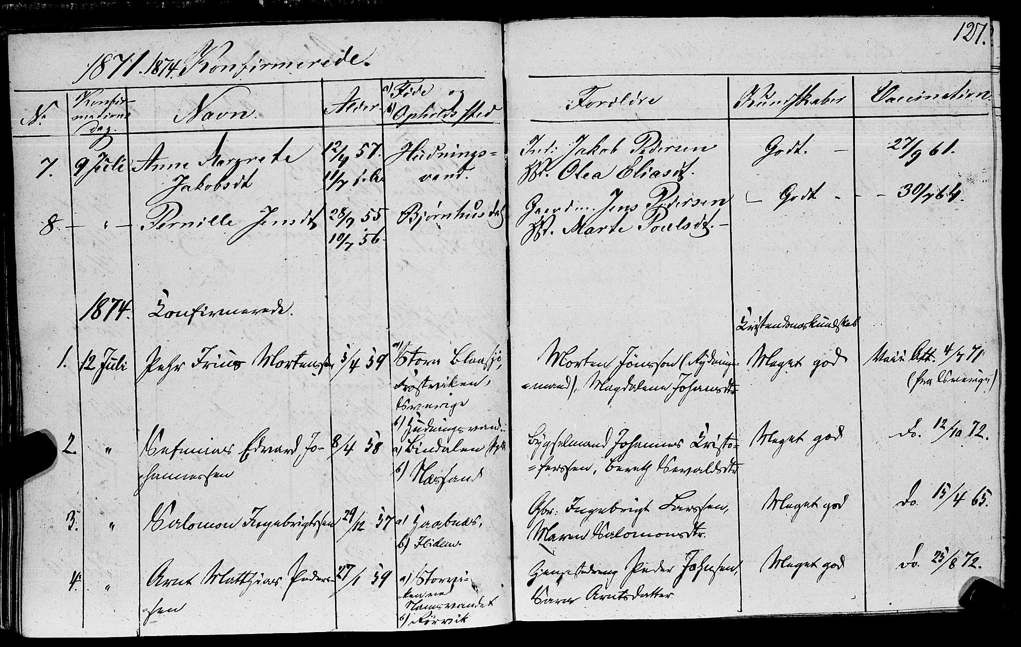 SAT, Ministerialprotokoller, klokkerbøker og fødselsregistre - Nord-Trøndelag, 762/L0538: Ministerialbok nr. 762A02 /1, 1833-1879, s. 127