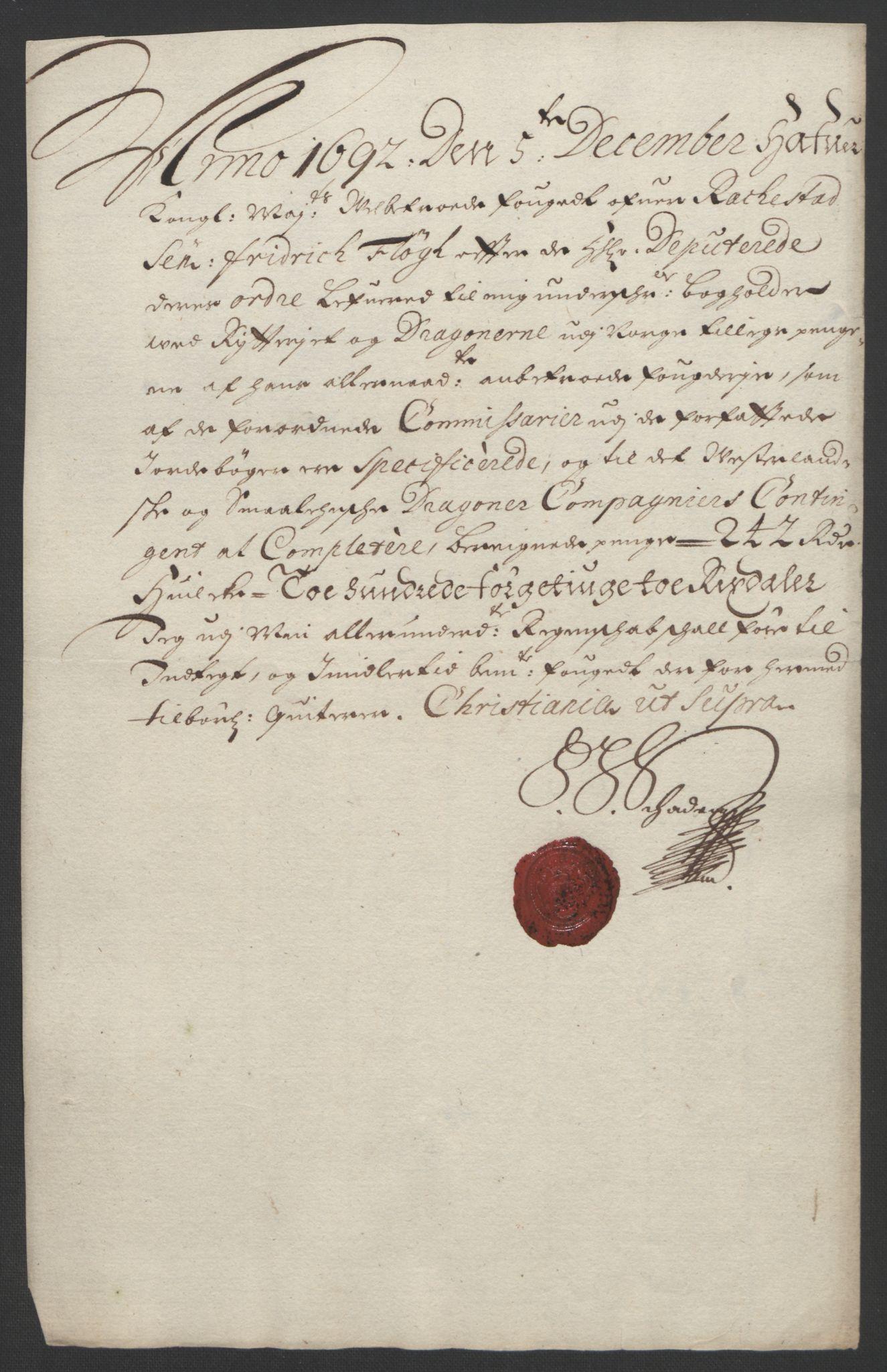 RA, Rentekammeret inntil 1814, Reviderte regnskaper, Fogderegnskap, R05/L0278: Fogderegnskap Rakkestad, 1691-1693, s. 336
