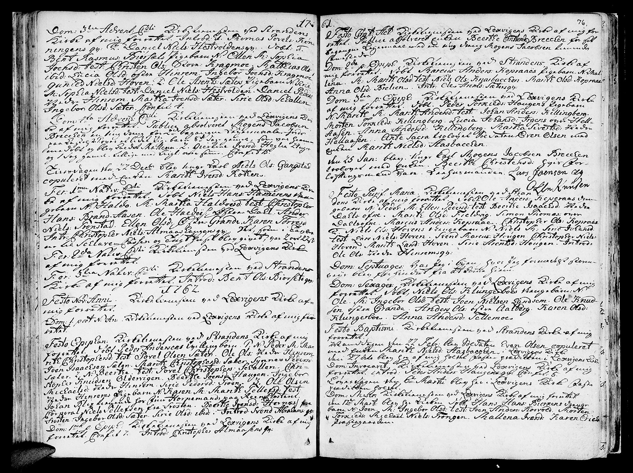SAT, Ministerialprotokoller, klokkerbøker og fødselsregistre - Nord-Trøndelag, 701/L0003: Ministerialbok nr. 701A03, 1751-1783, s. 76