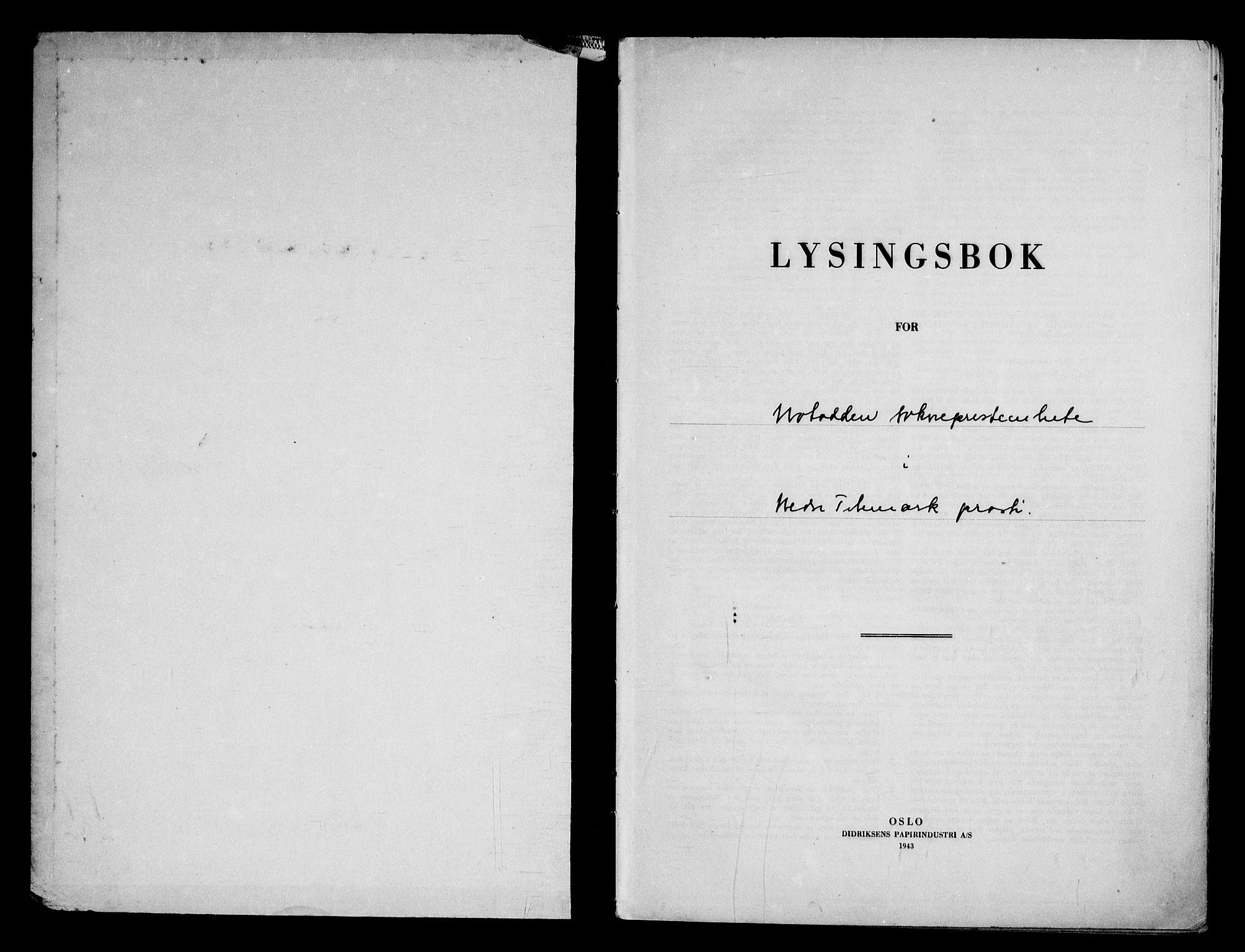 SAKO, Notodden kirkebøker, H/Ha/L0002: Lysningsprotokoll nr. 2, 1946-1958
