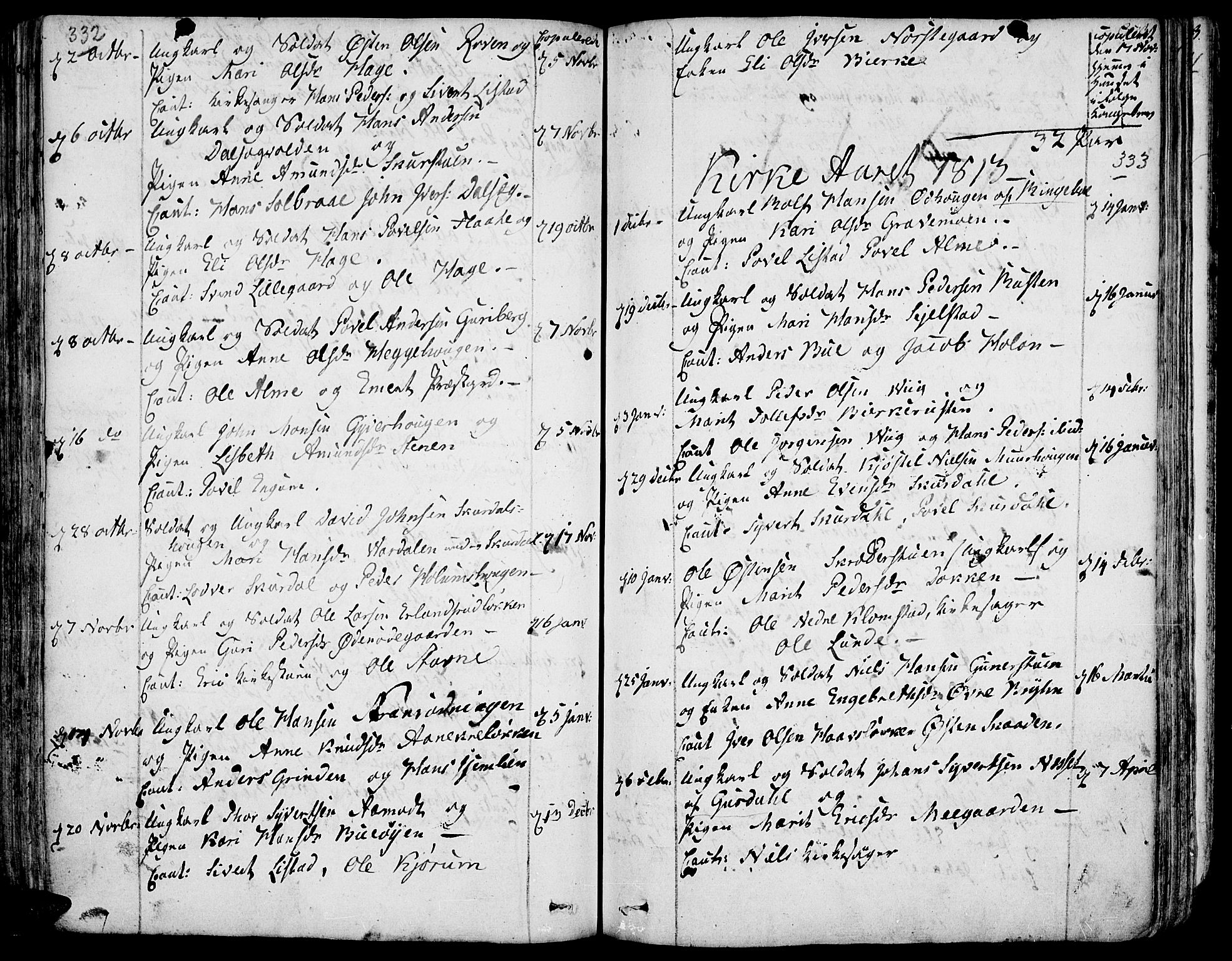SAH, Fron prestekontor, H/Ha/Haa/L0001: Ministerialbok nr. 1, 1799-1816, s. 332-333