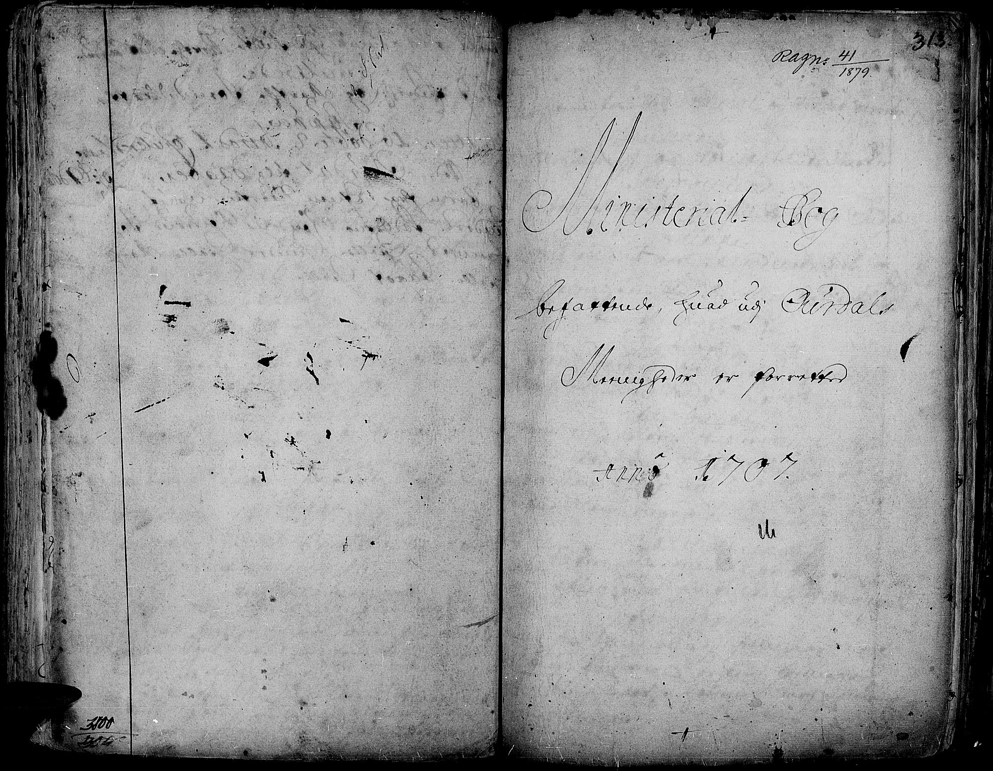 SAH, Aurdal prestekontor, Ministerialbok nr. 1-3, 1692-1730, s. 313
