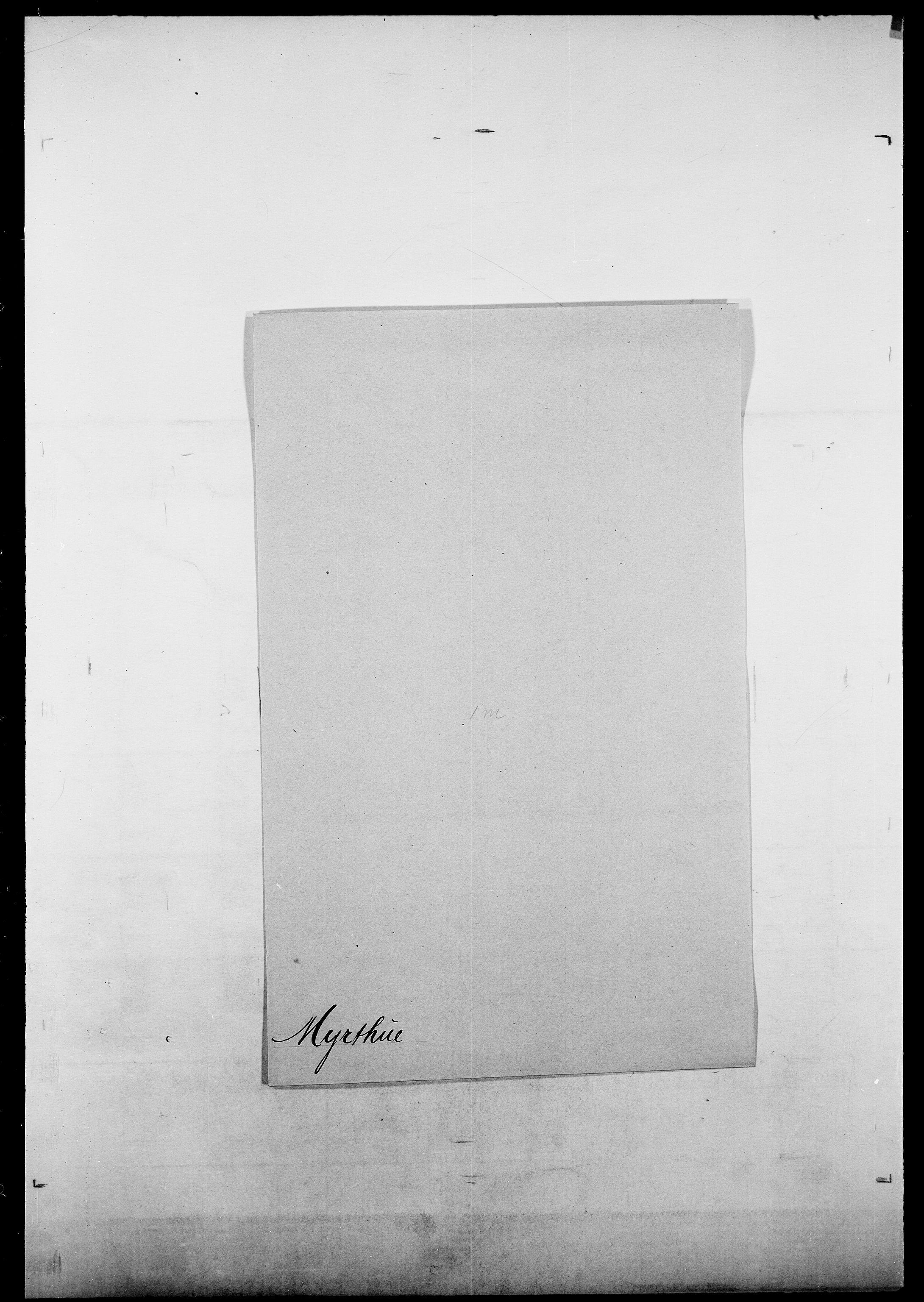 SAO, Delgobe, Charles Antoine - samling, D/Da/L0027: Morath - v. Møsting, s. 501