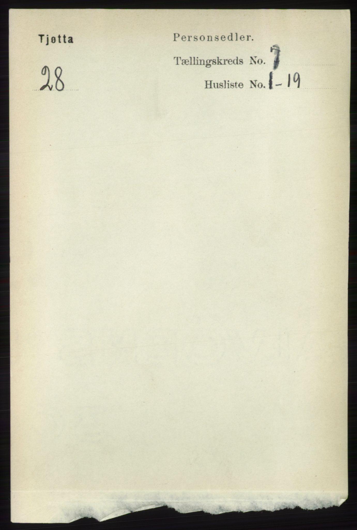 RA, Folketelling 1891 for 1817 Tjøtta herred, 1891, s. 3612