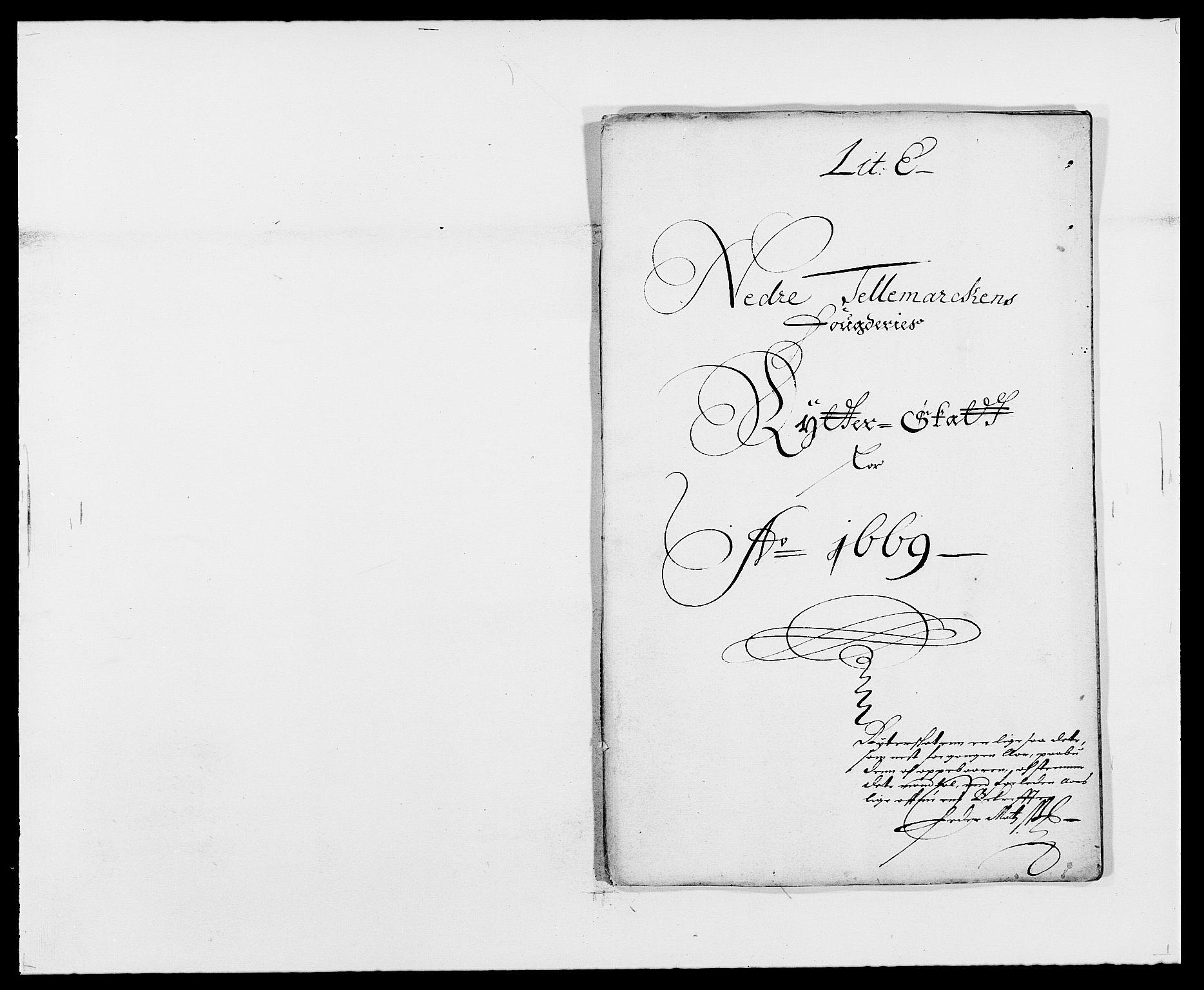 RA, Rentekammeret inntil 1814, Reviderte regnskaper, Fogderegnskap, R35/L2058: Fogderegnskap Øvre og Nedre Telemark, 1668-1670, s. 88