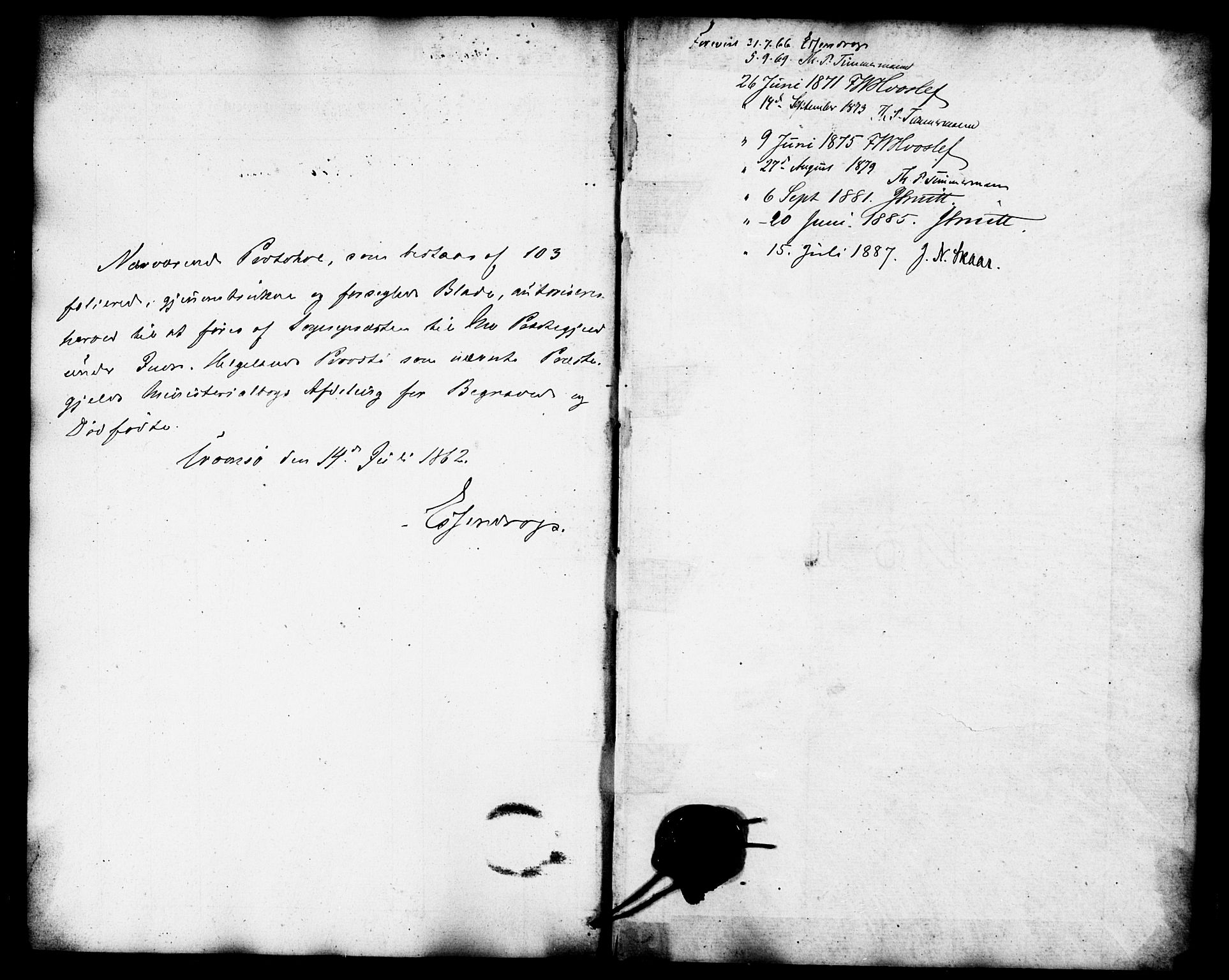 SAT, Ministerialprotokoller, klokkerbøker og fødselsregistre - Nordland, 827/L0396: Ministerialbok nr. 827A08, 1864-1886