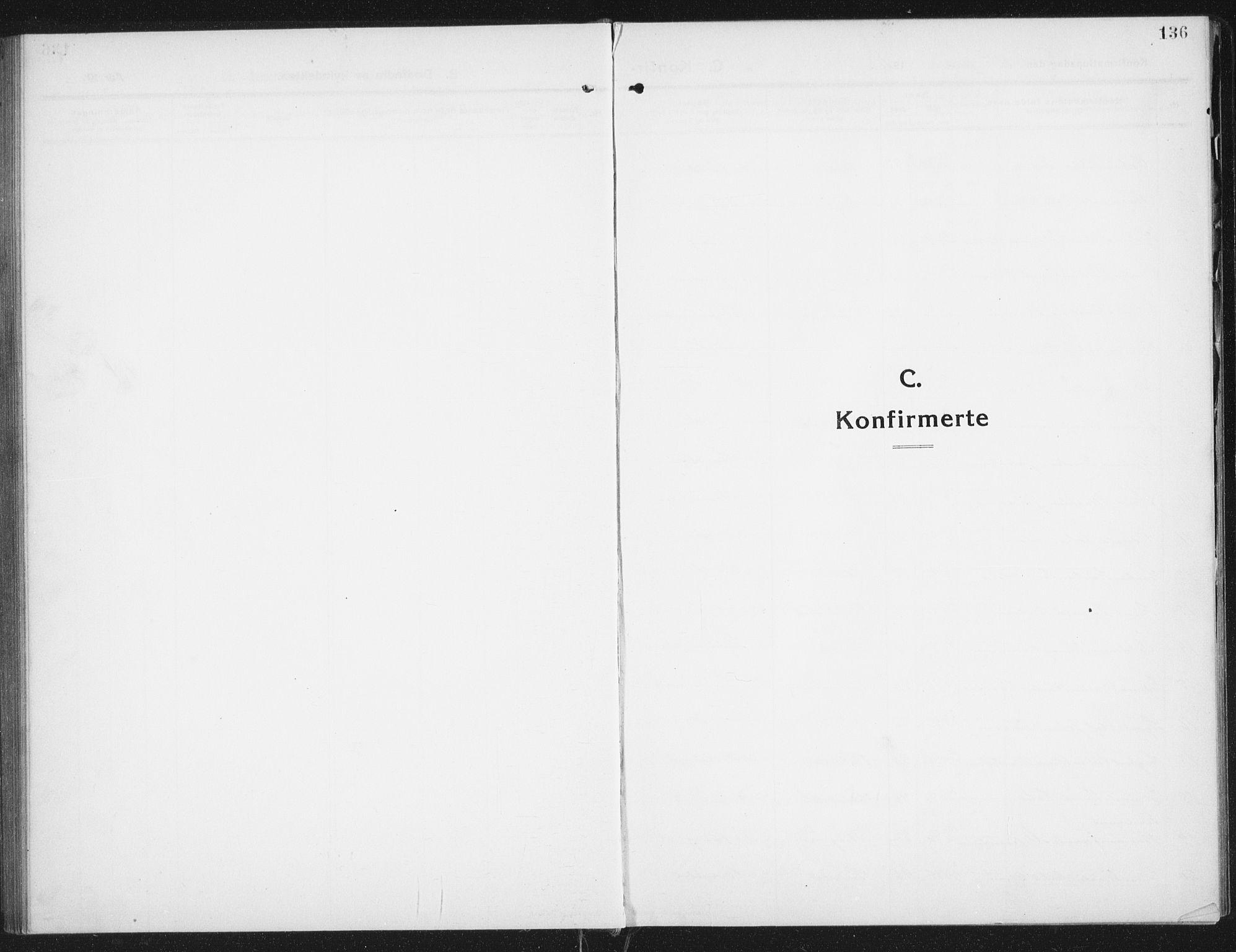 SAT, Ministerialprotokoller, klokkerbøker og fødselsregistre - Nordland, 882/L1183: Klokkerbok nr. 882C01, 1911-1938, s. 136