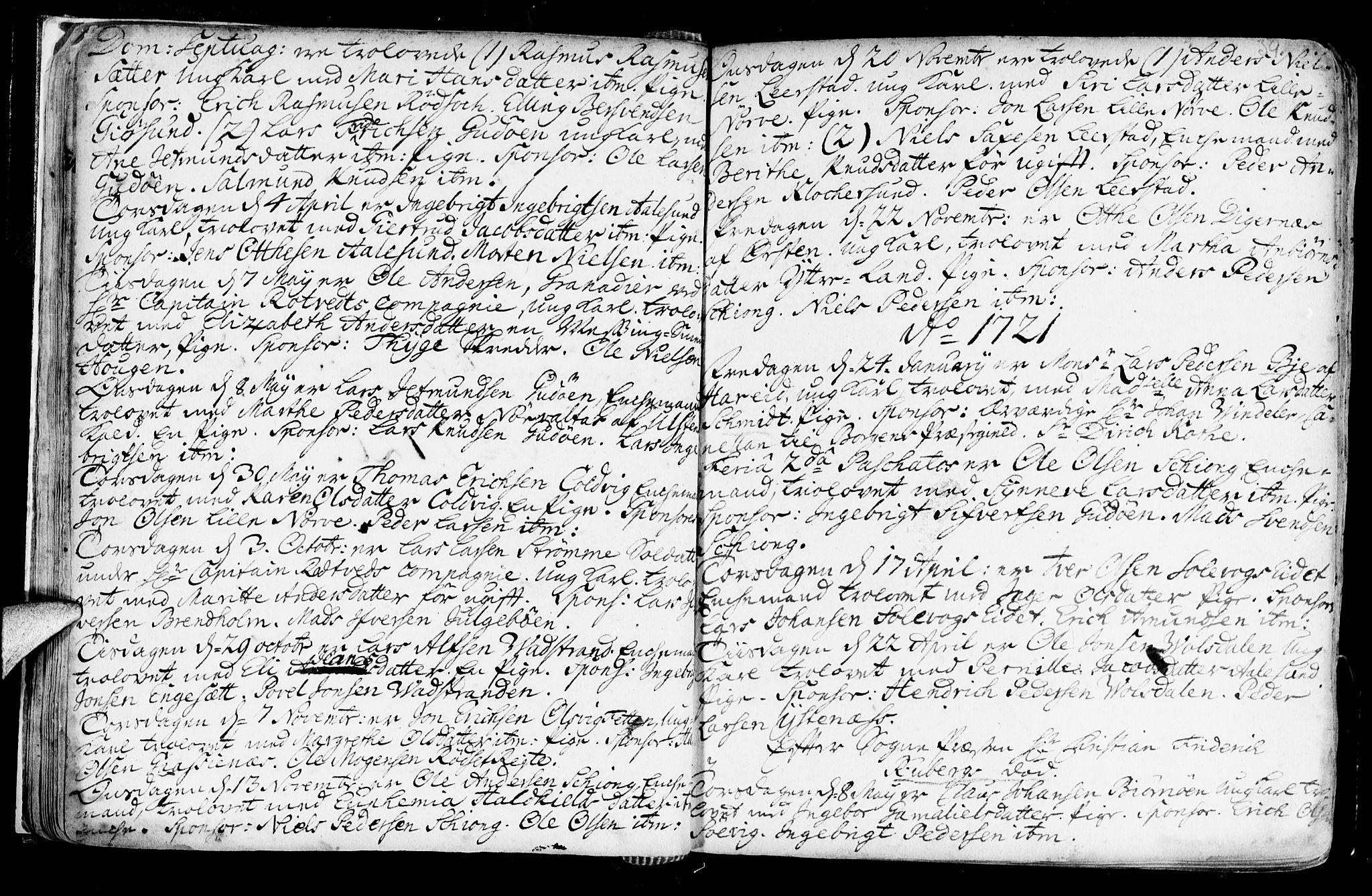 SAT, Ministerialprotokoller, klokkerbøker og fødselsregistre - Møre og Romsdal, 528/L0390: Ministerialbok nr. 528A01, 1698-1739, s. 38-39