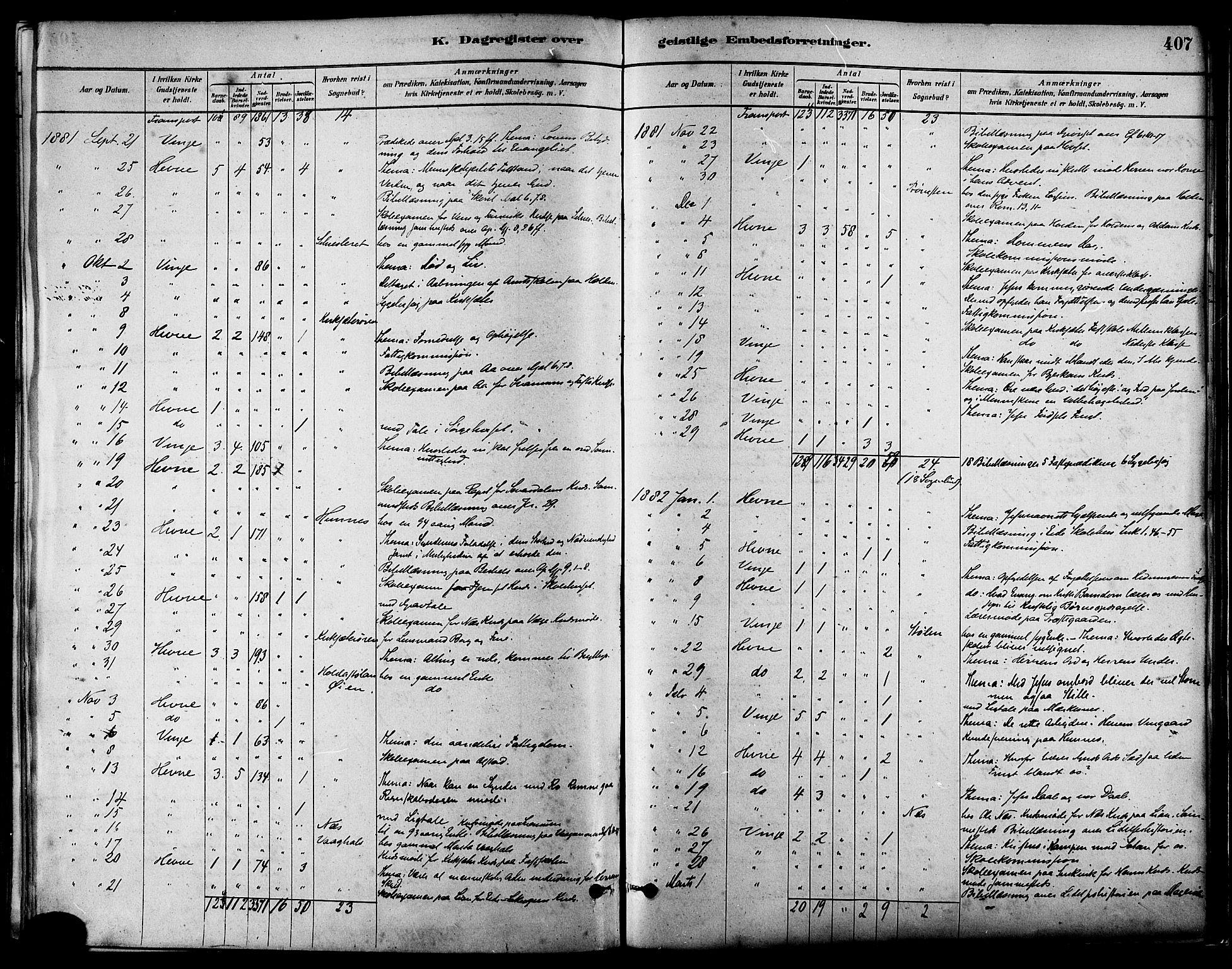 SAT, Ministerialprotokoller, klokkerbøker og fødselsregistre - Sør-Trøndelag, 630/L0496: Ministerialbok nr. 630A09, 1879-1895, s. 407