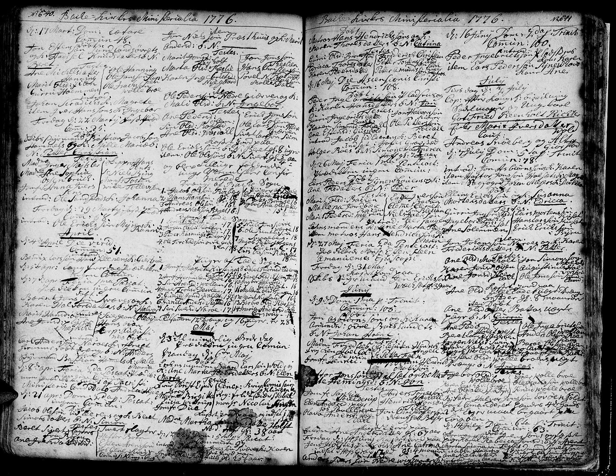 SAT, Ministerialprotokoller, klokkerbøker og fødselsregistre - Sør-Trøndelag, 606/L0276: Ministerialbok nr. 606A01 /2, 1727-1779, s. 640-641