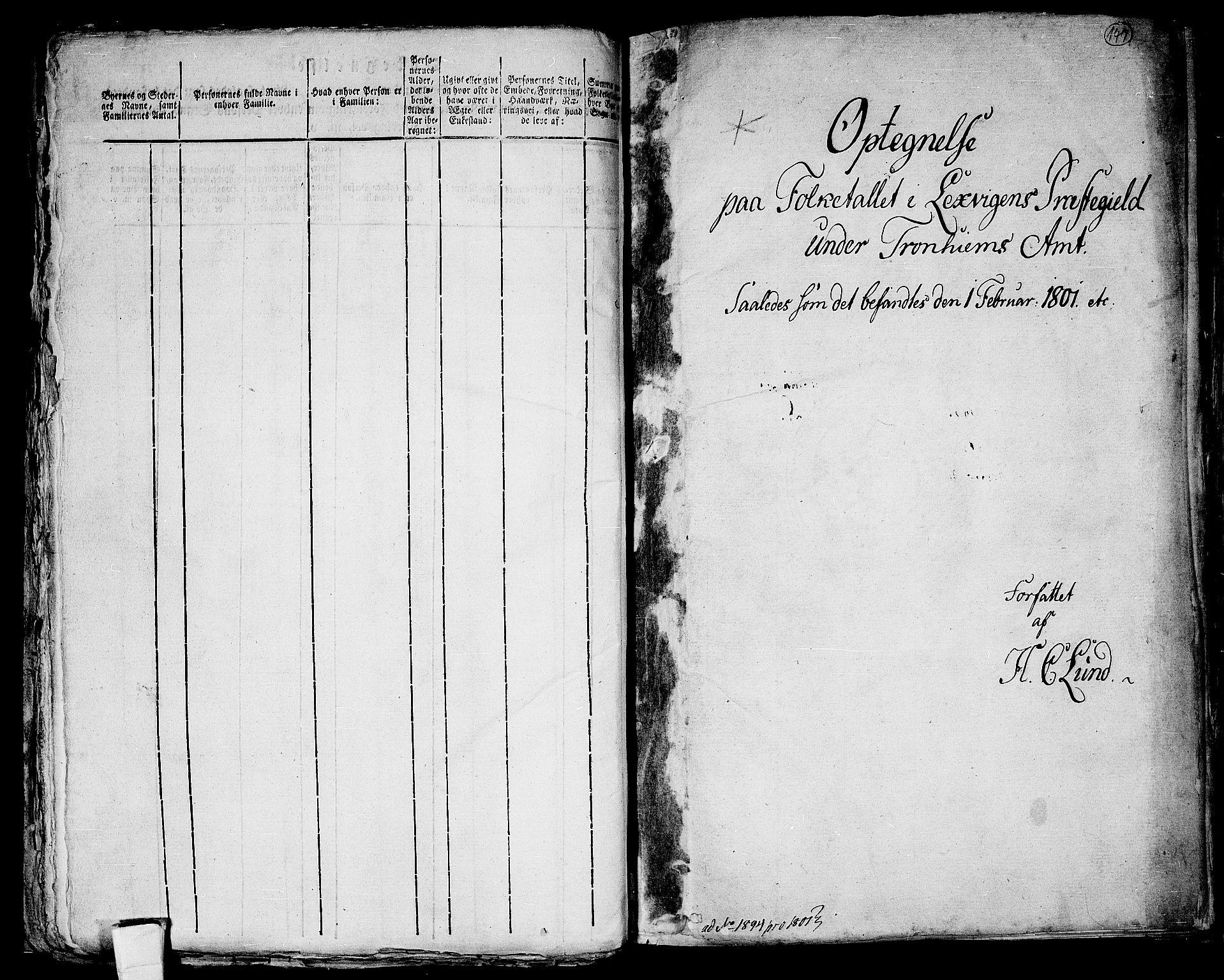 RA, Folketelling 1801 for 1718P Leksvik prestegjeld, 1801, s. 147a