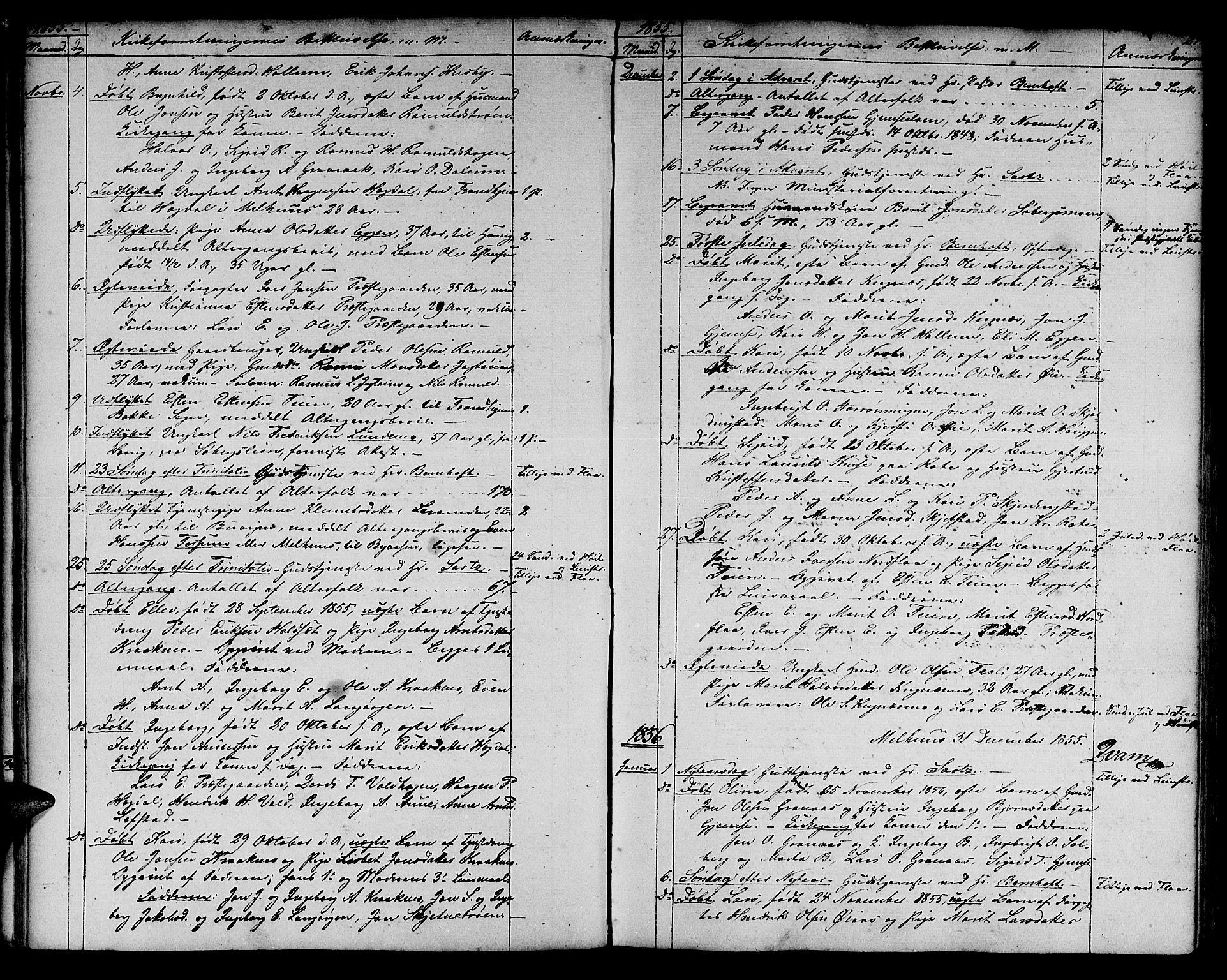 SAT, Ministerialprotokoller, klokkerbøker og fødselsregistre - Sør-Trøndelag, 691/L1093: Klokkerbok nr. 691C04, 1852-1879, s. 24
