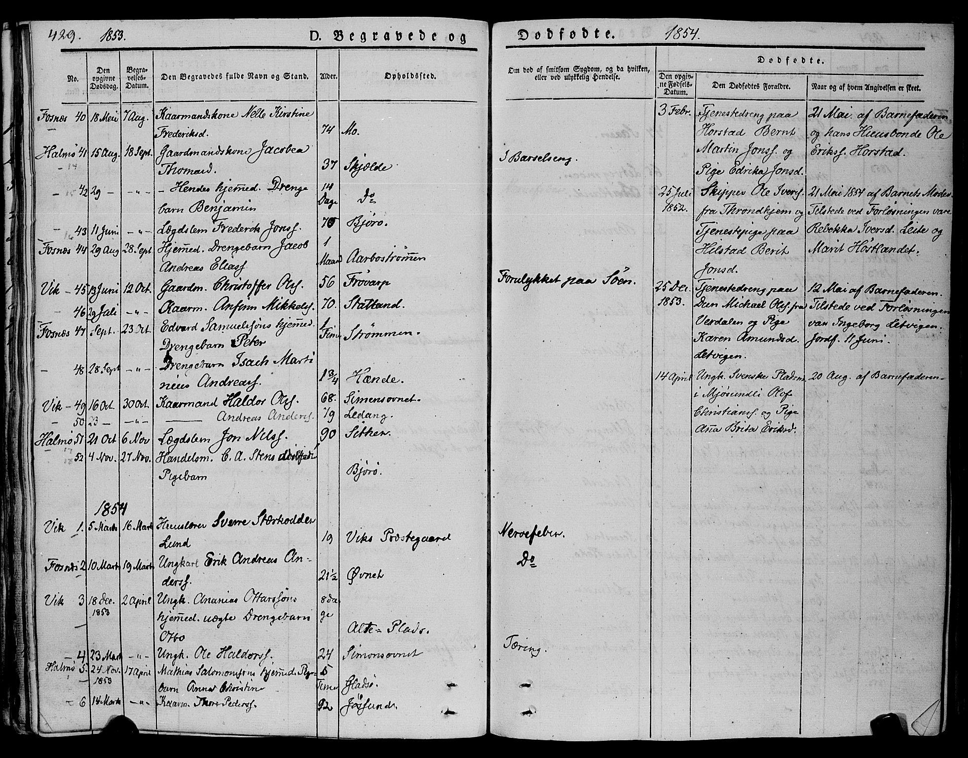 SAT, Ministerialprotokoller, klokkerbøker og fødselsregistre - Nord-Trøndelag, 773/L0614: Ministerialbok nr. 773A05, 1831-1856, s. 429