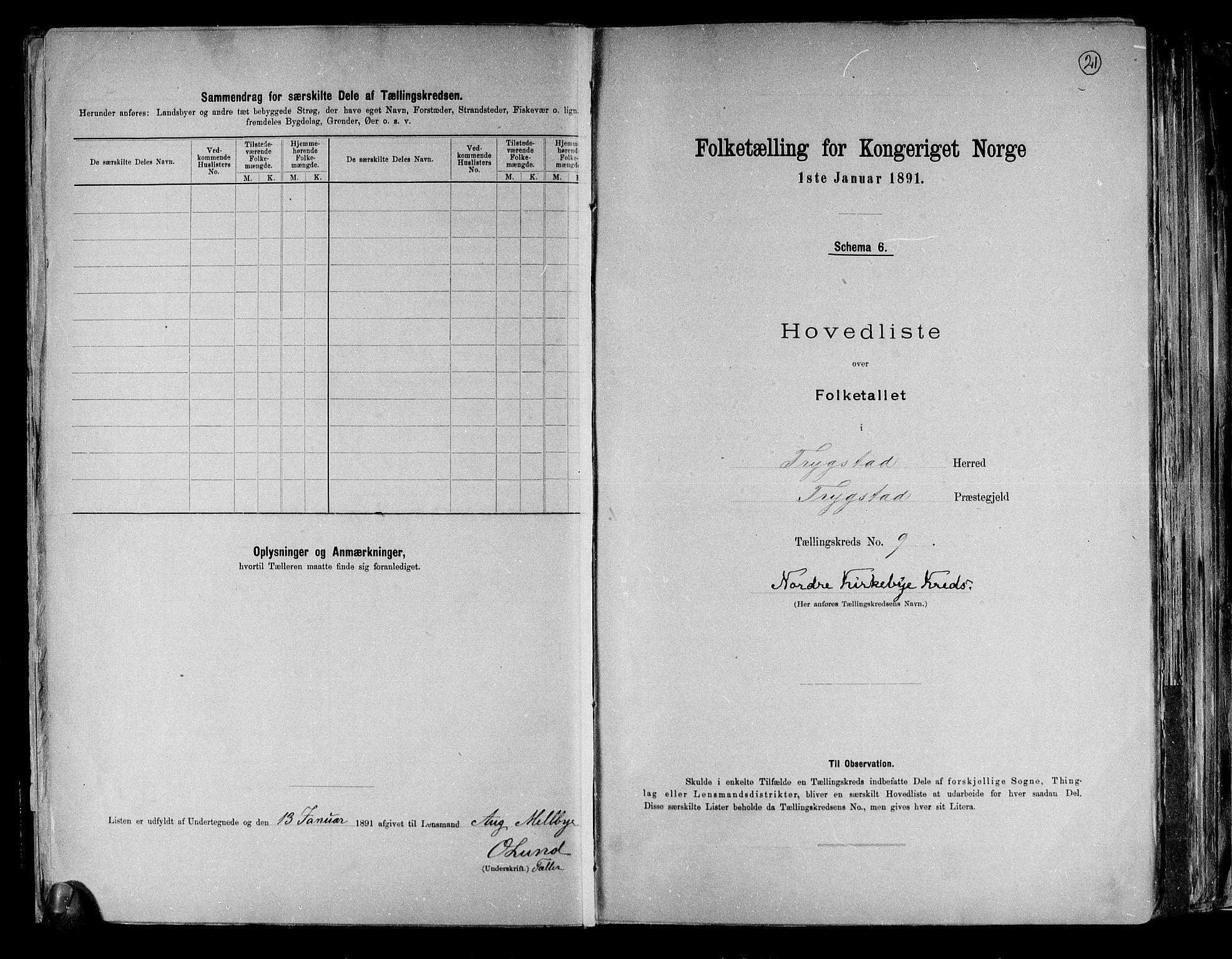 RA, Folketelling 1891 for 0122 Trøgstad herred, 1891, s. 21