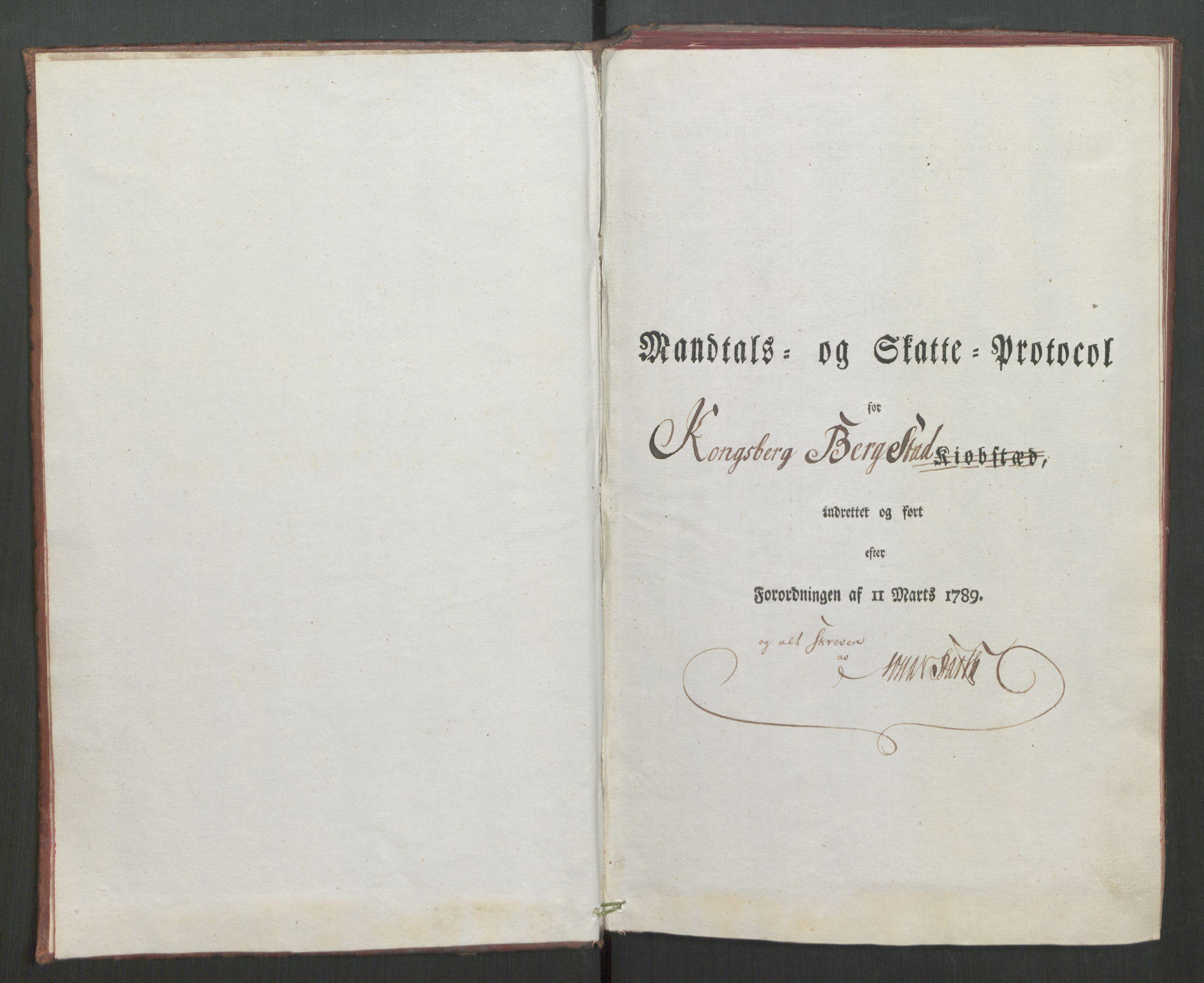 RA, Rentekammeret inntil 1814, Reviderte regnskaper, Mindre regnskaper, Rf/Rfe/L0020: Kongsberg, Kragerø, Larvik, 1789, s. 5