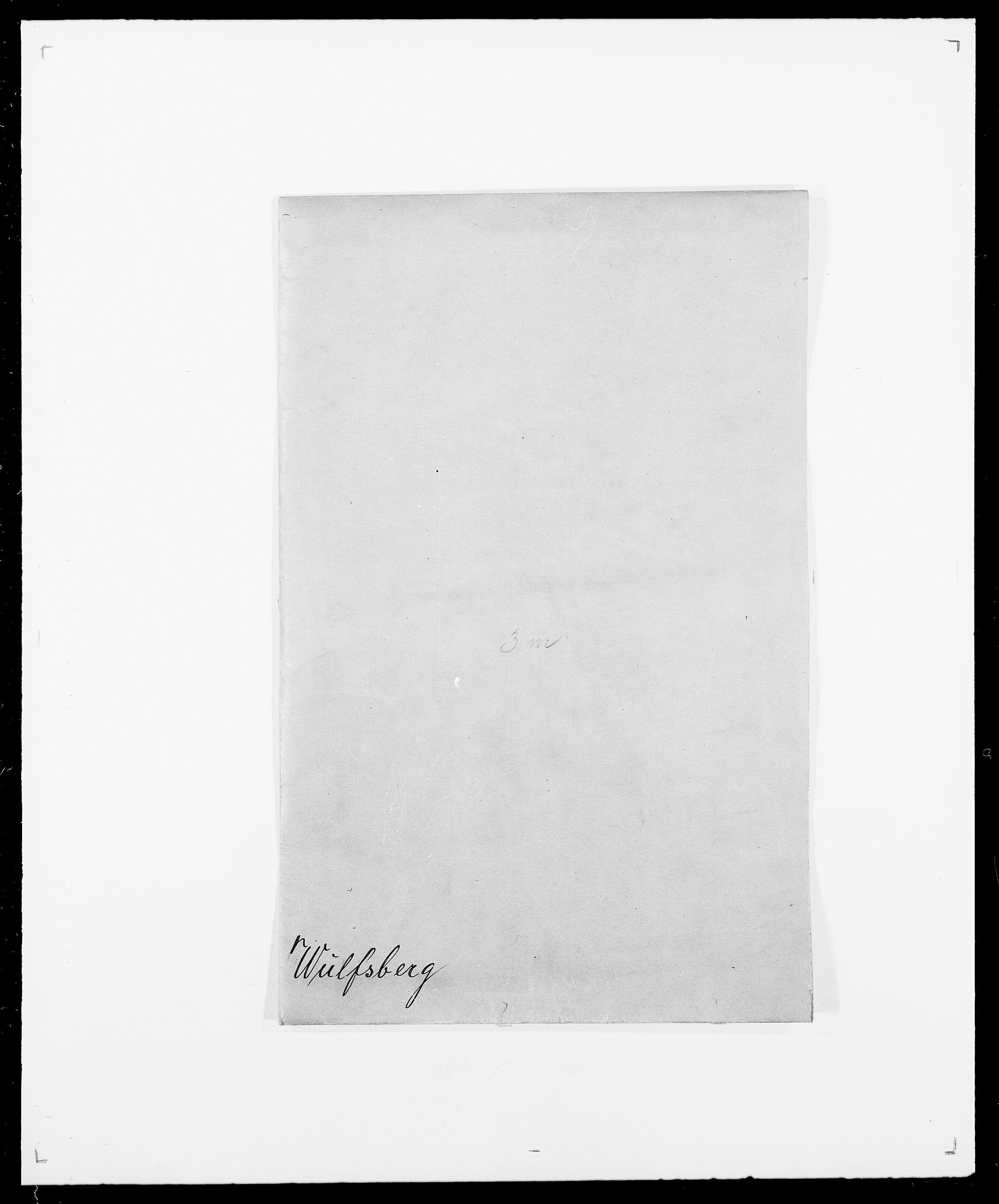 SAO, Delgobe, Charles Antoine - samling, D/Da/L0043: Wulfsberg - v. Zanten, s. 1