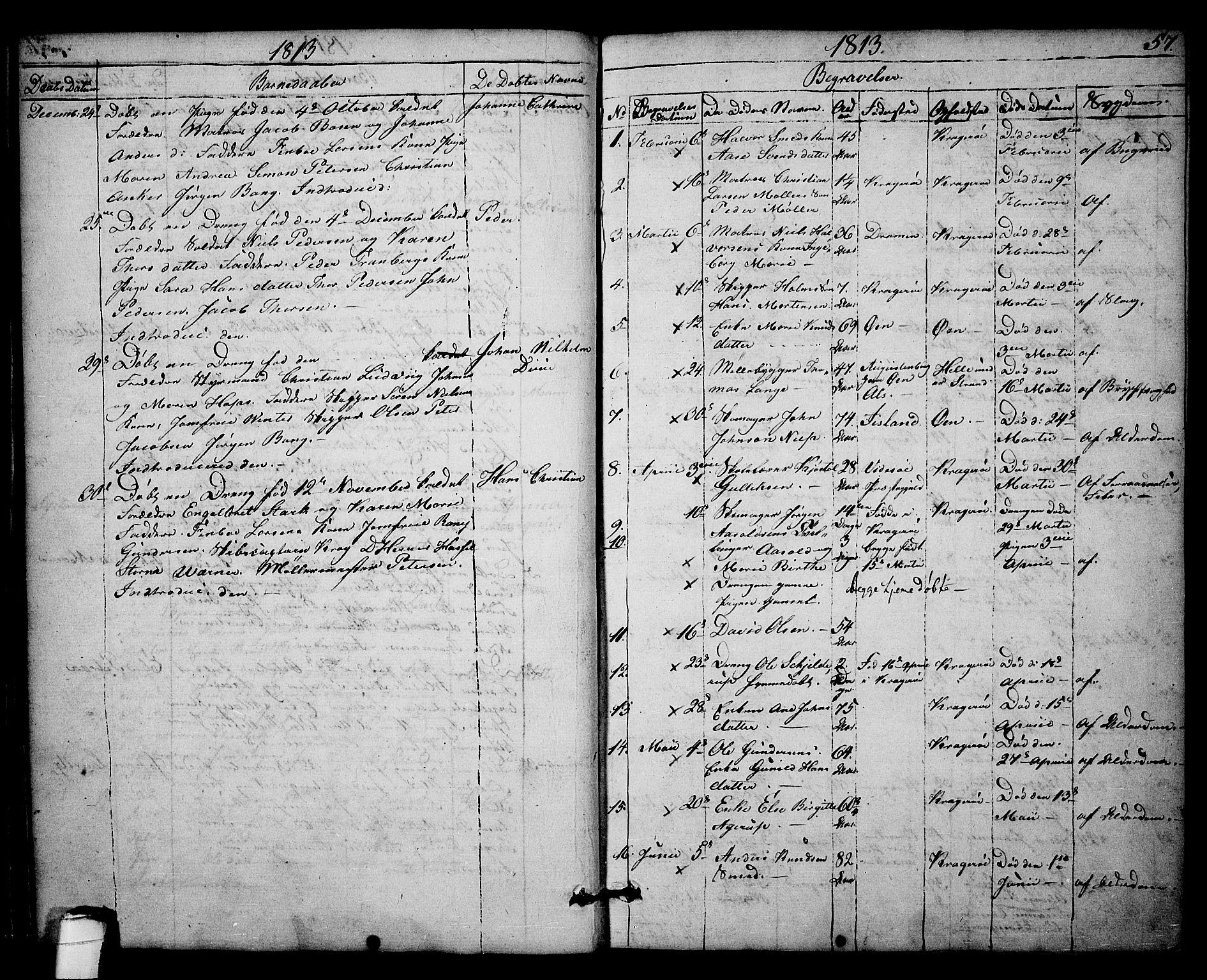 SAKO, Kragerø kirkebøker, F/Fa/L0003: Ministerialbok nr. 3, 1802-1813, s. 57