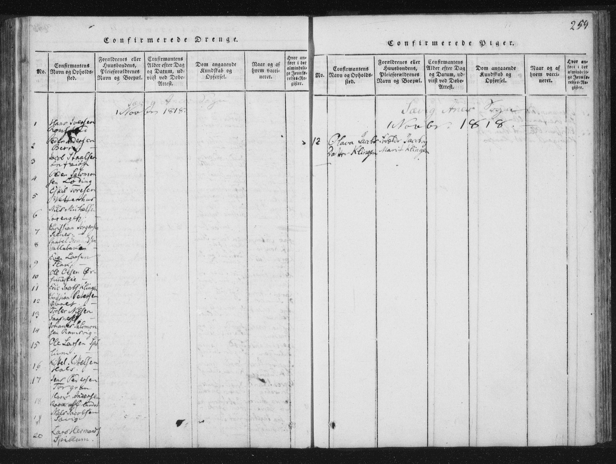 SAT, Ministerialprotokoller, klokkerbøker og fødselsregistre - Nord-Trøndelag, 773/L0609: Ministerialbok nr. 773A03 /4, 1815-1818, s. 259
