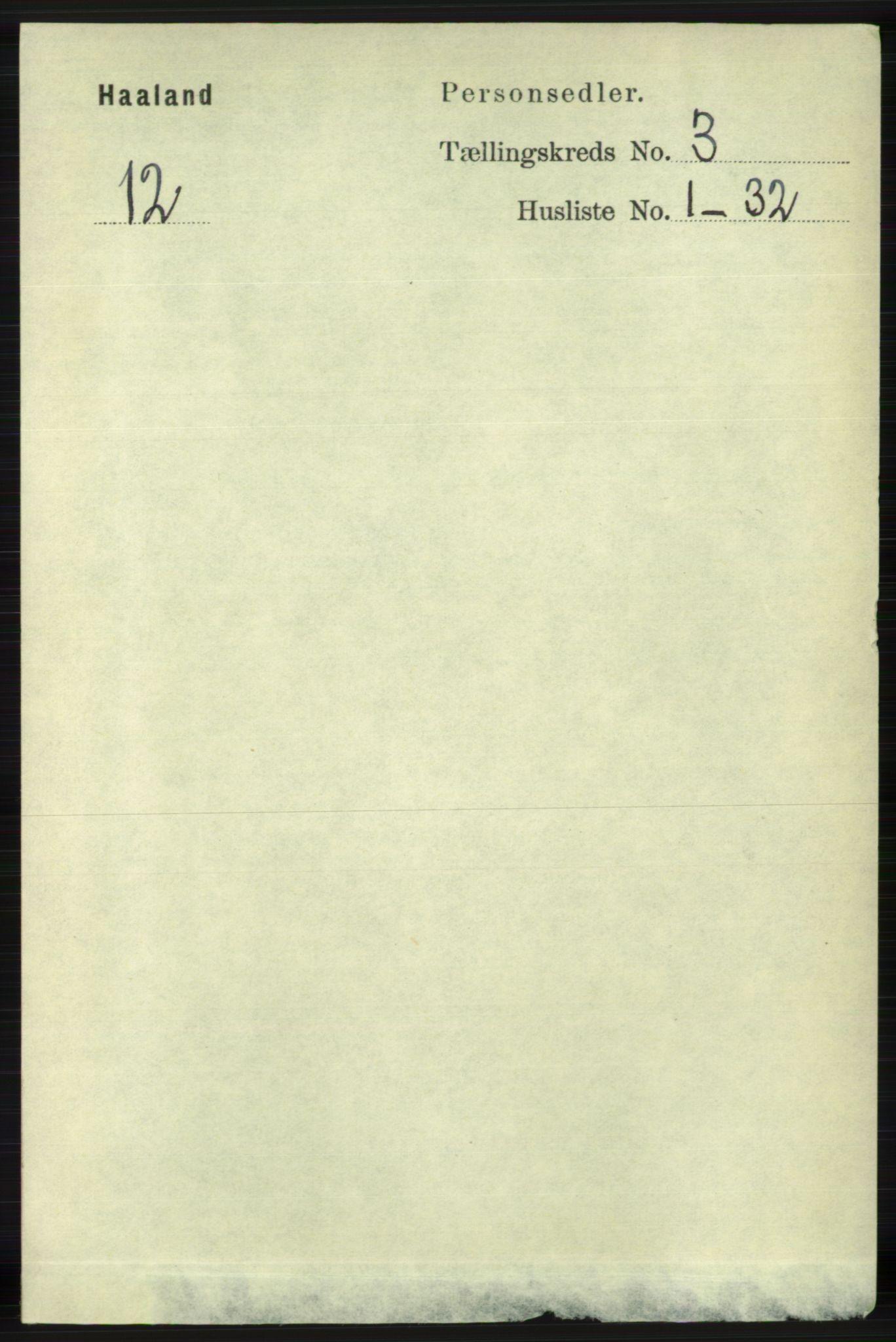 RA, Folketelling 1891 for 1124 Haaland herred, 1891, s. 1704