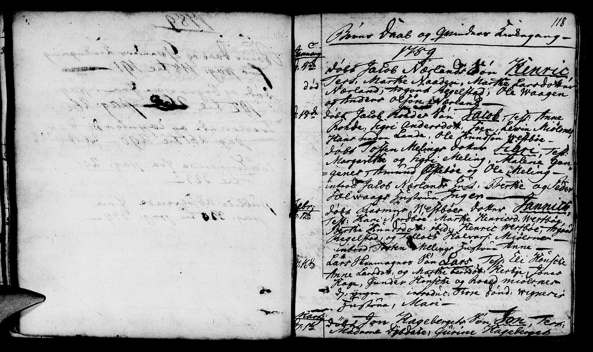 SAST, Finnøy sokneprestkontor, H/Ha/Haa/L0005: Ministerialbok nr. A 5, 1773-1816, s. 118
