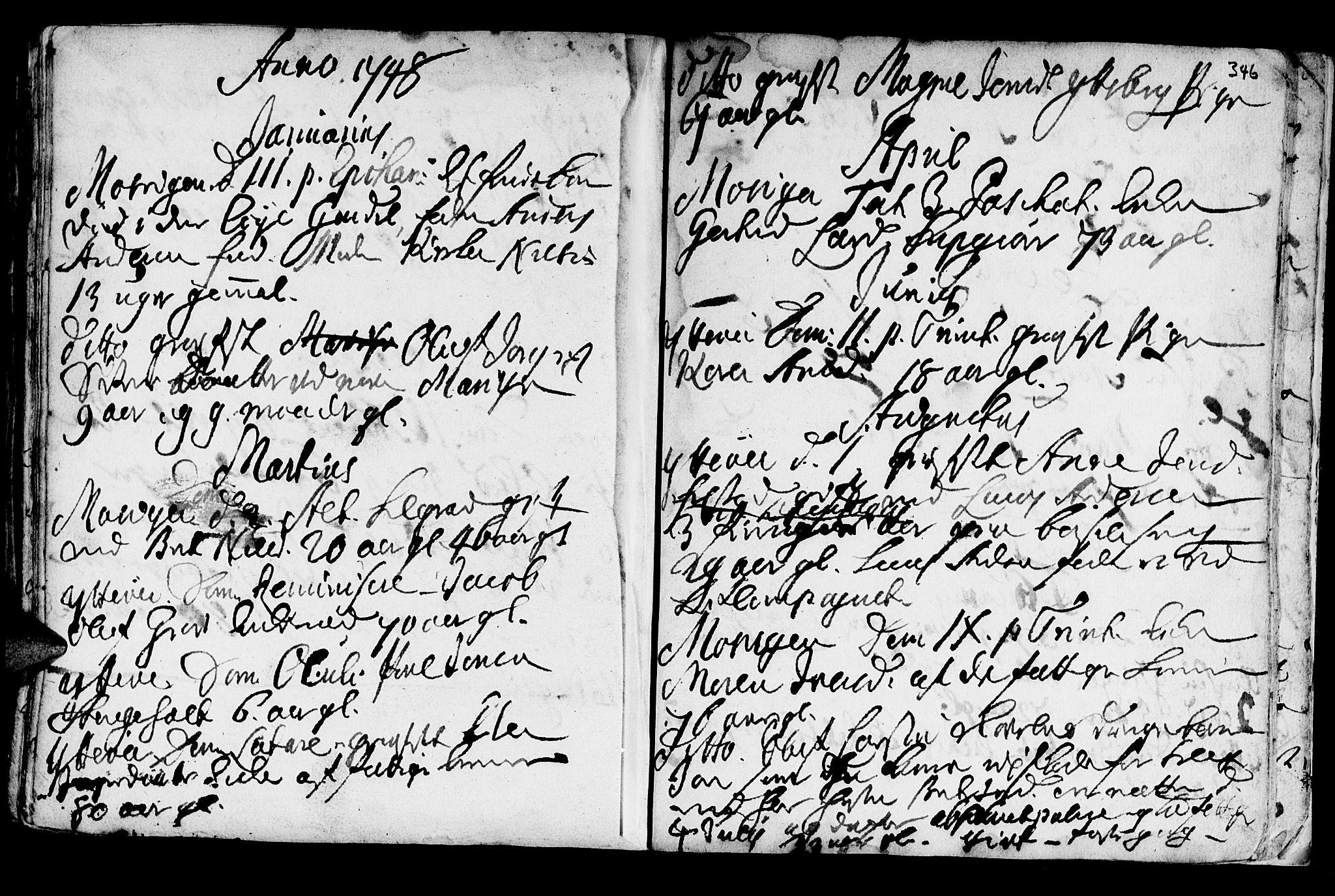 SAT, Ministerialprotokoller, klokkerbøker og fødselsregistre - Nord-Trøndelag, 722/L0215: Ministerialbok nr. 722A02, 1718-1755, s. 346