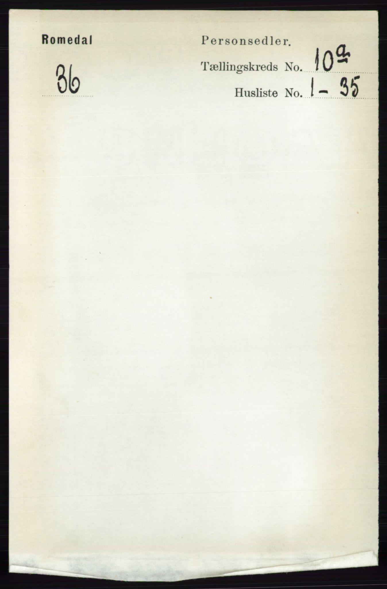 RA, Folketelling 1891 for 0416 Romedal herred, 1891, s. 4810