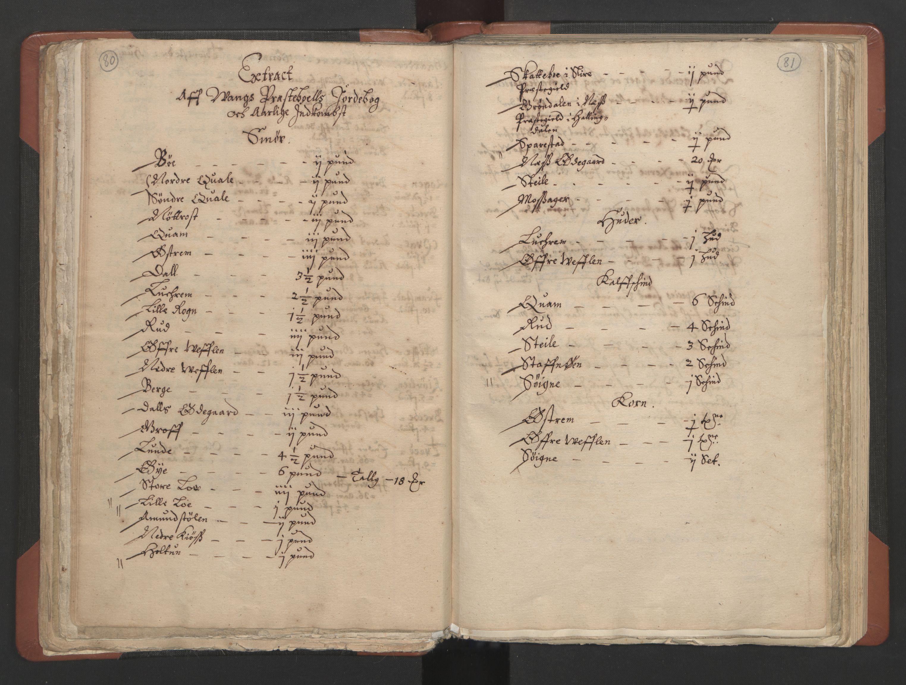 RA, Sogneprestenes manntall 1664-1666, nr. 8: Valdres prosti, 1664-1666, s. 80-81