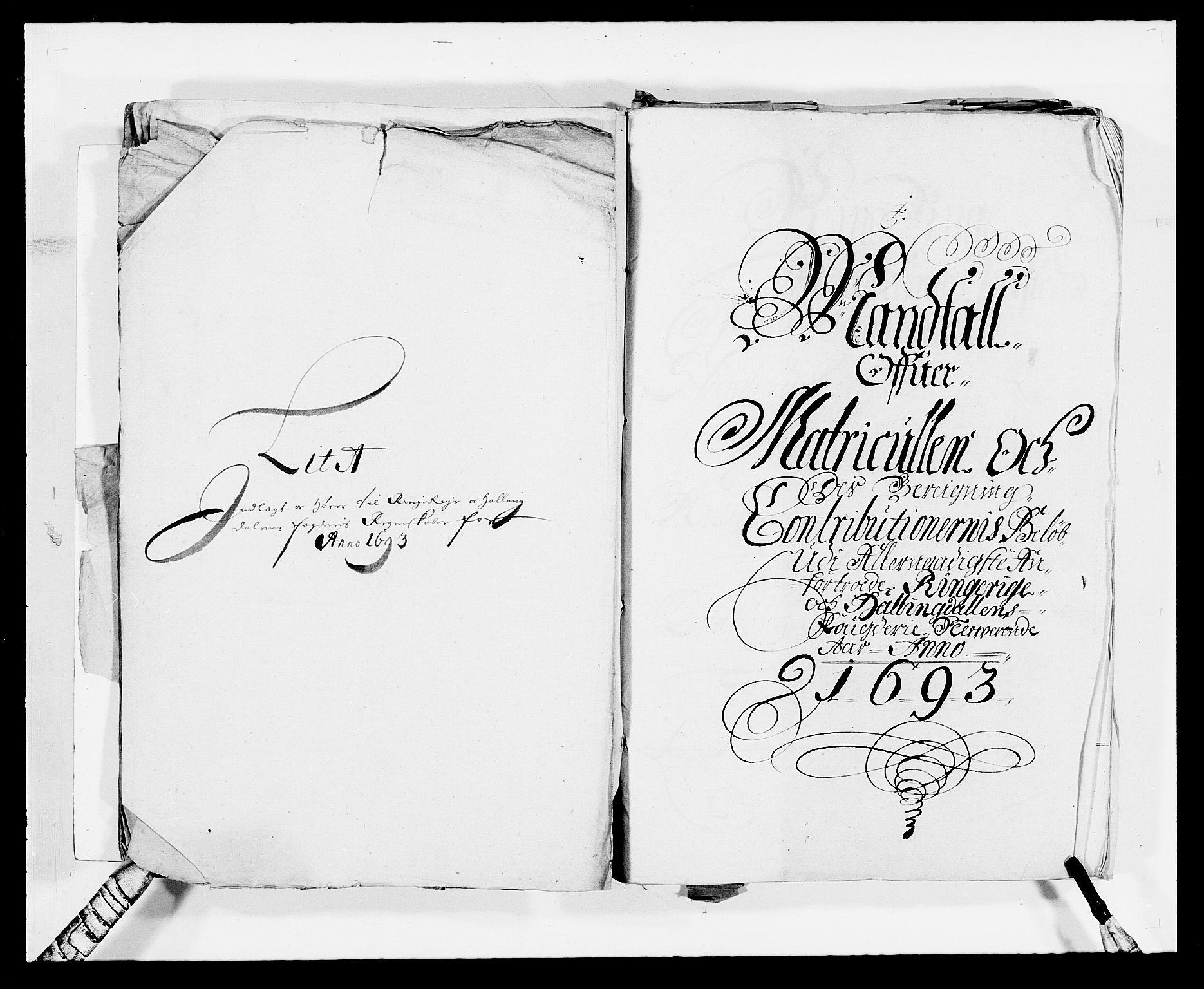 RA, Rentekammeret inntil 1814, Reviderte regnskaper, Fogderegnskap, R21/L1450: Fogderegnskap Ringerike og Hallingdal, 1693, s. 12