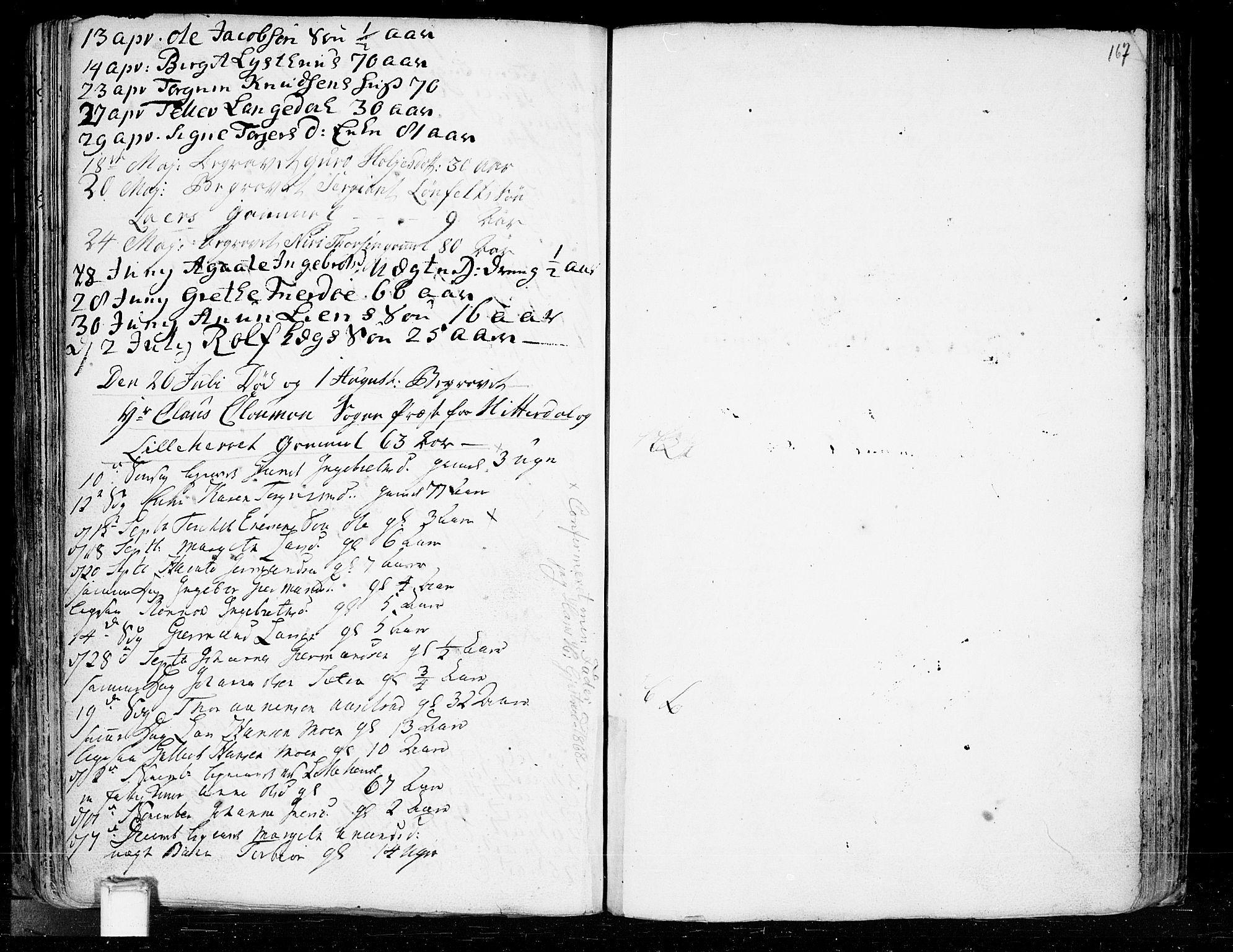 SAKO, Heddal kirkebøker, F/Fa/L0003: Ministerialbok nr. I 3, 1723-1783, s. 167