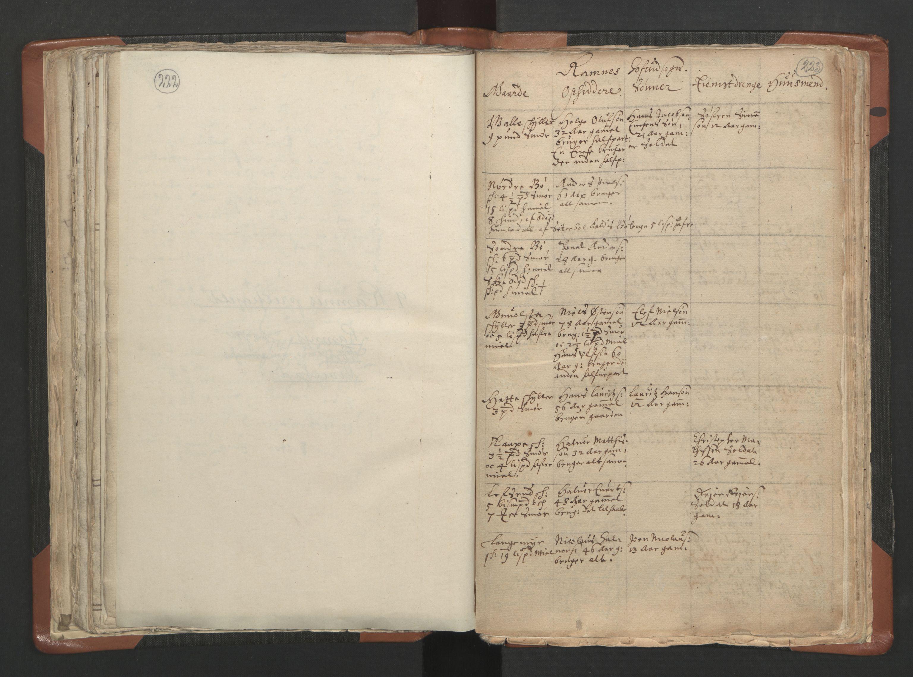 RA, Sogneprestenes manntall 1664-1666, nr. 10: Tønsberg prosti, 1664-1666, s. 222-223