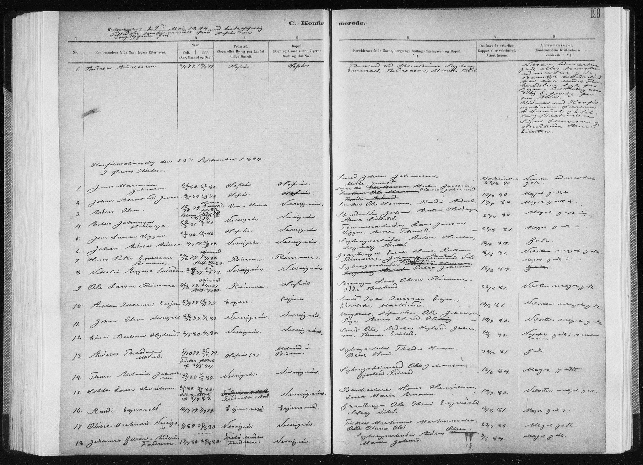 SAT, Ministerialprotokoller, klokkerbøker og fødselsregistre - Sør-Trøndelag, 668/L0818: Klokkerbok nr. 668C07, 1885-1898, s. 198
