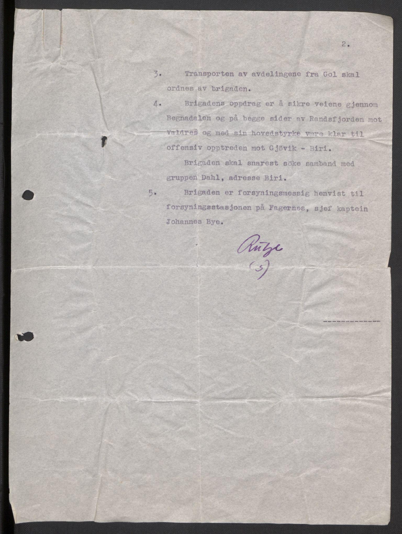 RA, Forsvaret, Forsvarets krigshistoriske avdeling, Y/Yb/L0104: II-C-11-430  -  4. Divisjon., 1940, s. 186