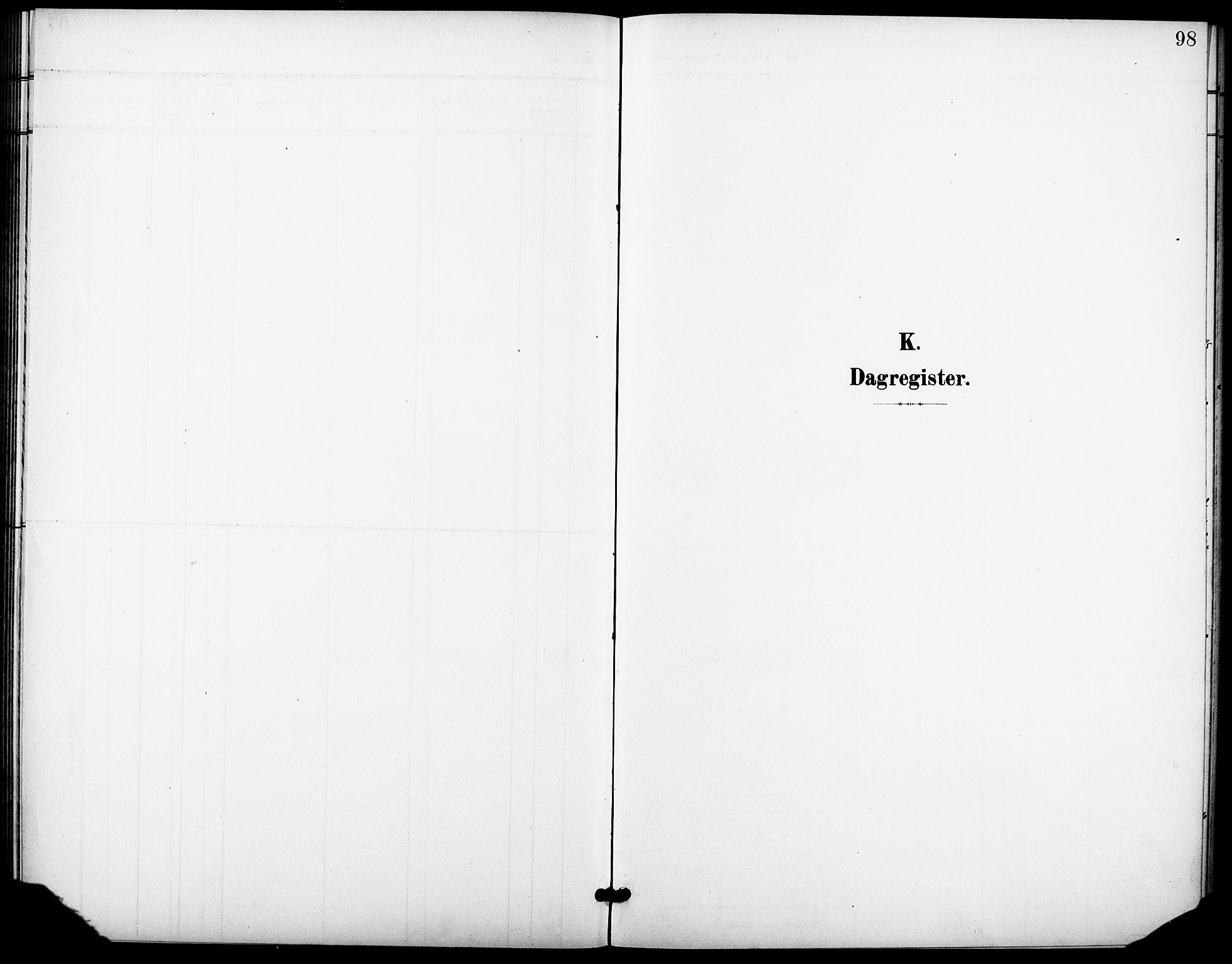 SAO, Krohgstøtten sykehusprest Kirkebøker, F/Fa/L0004: Ministerialbok nr. 4, 1900-1935, s. 98
