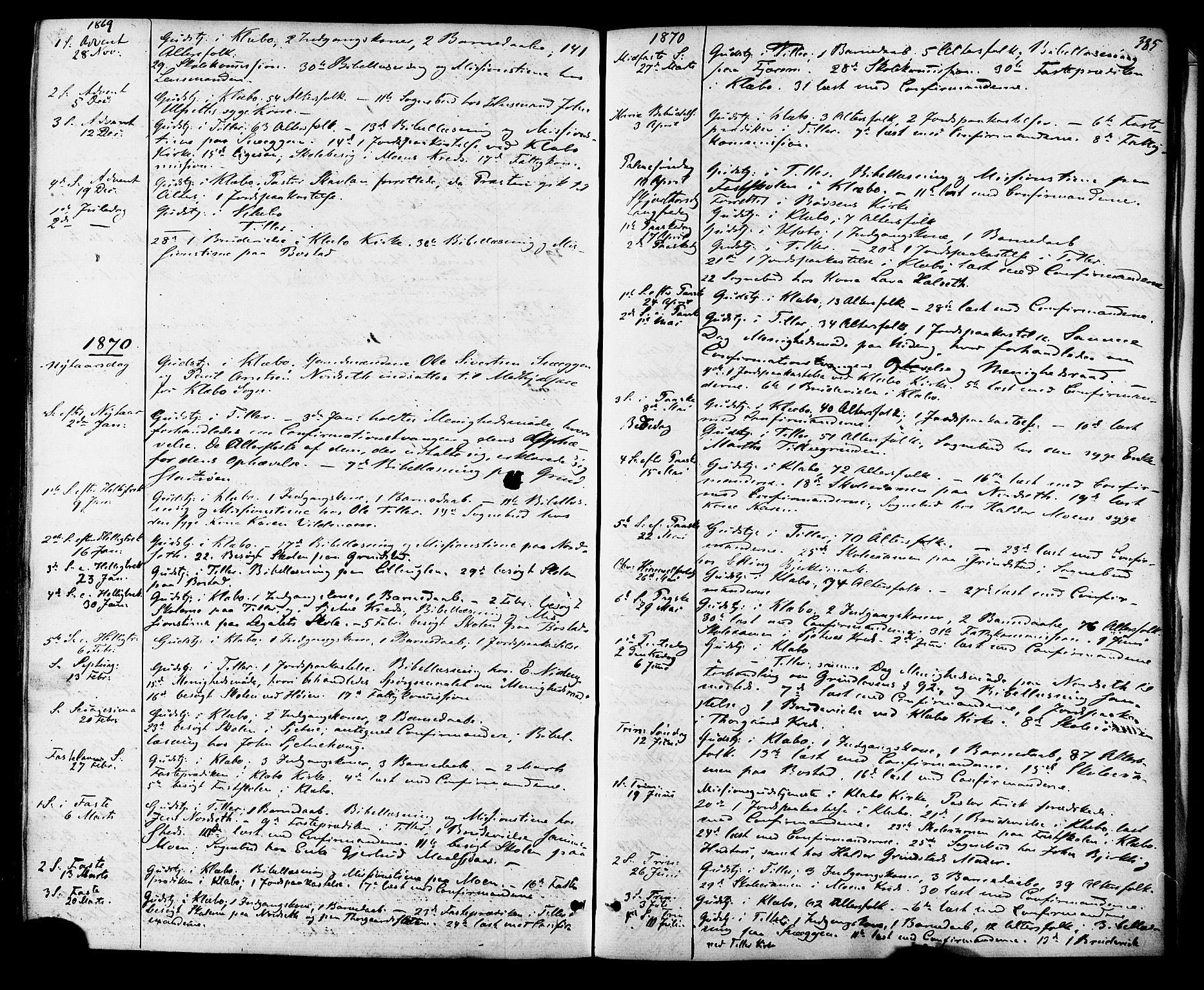 SAT, Ministerialprotokoller, klokkerbøker og fødselsregistre - Sør-Trøndelag, 618/L0442: Ministerialbok nr. 618A06 /1, 1863-1879, s. 385
