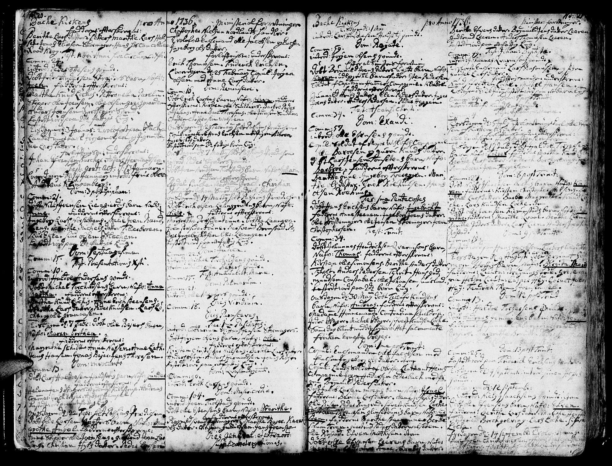SAT, Ministerialprotokoller, klokkerbøker og fødselsregistre - Sør-Trøndelag, 606/L0276: Ministerialbok nr. 606A01 /2, 1727-1779, s. 20-21