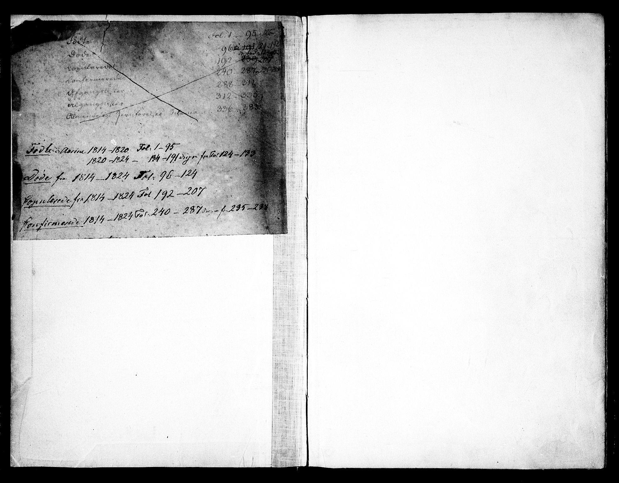 SAO, Asker prestekontor Kirkebøker, F/Fa/L0006: Ministerialbok nr. I 6, 1814-1824