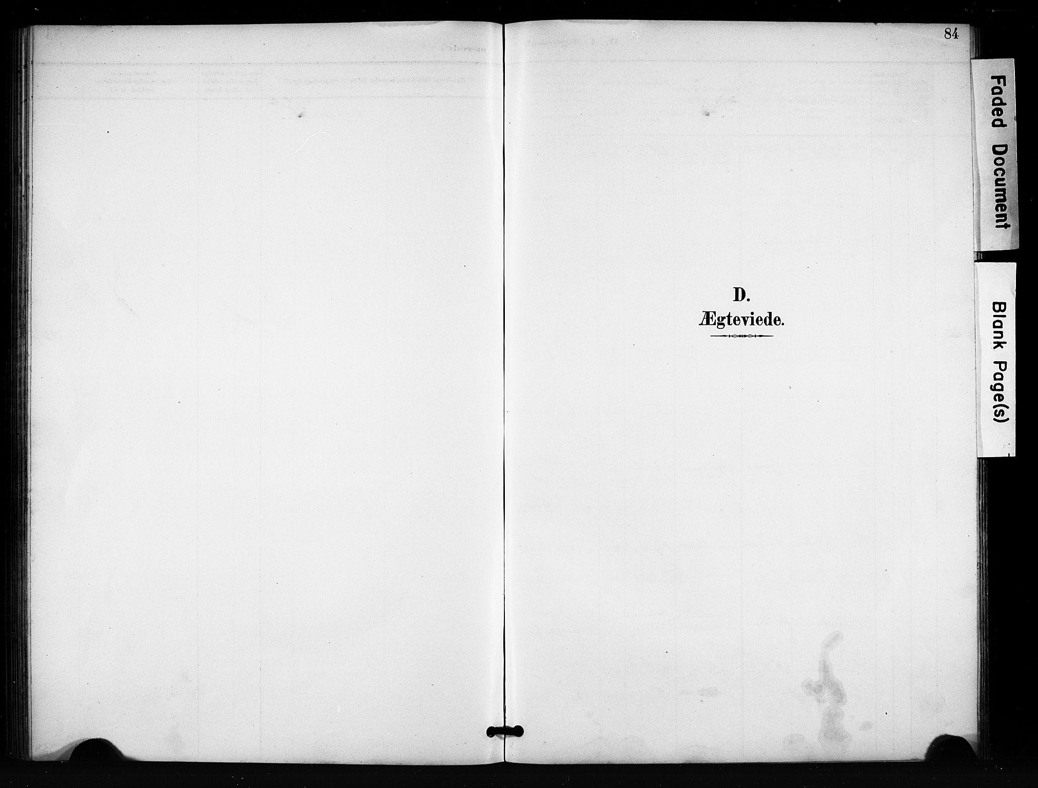 SAH, Vang prestekontor, Valdres, Klokkerbok nr. 7, 1893-1924, s. 84