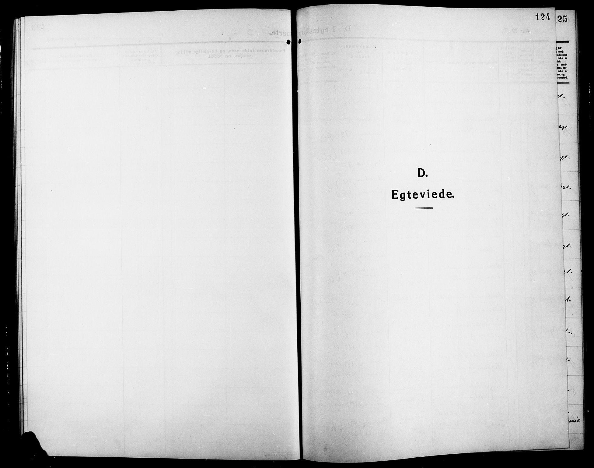SAH, Søndre Land prestekontor, L/L0006: Klokkerbok nr. 6, 1912-1925, s. 124
