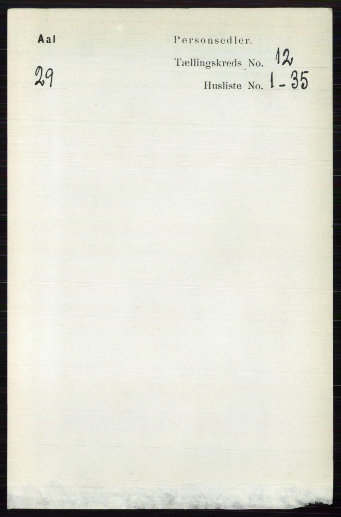RA, Folketelling 1891 for 0619 Ål herred, 1891, s. 3006