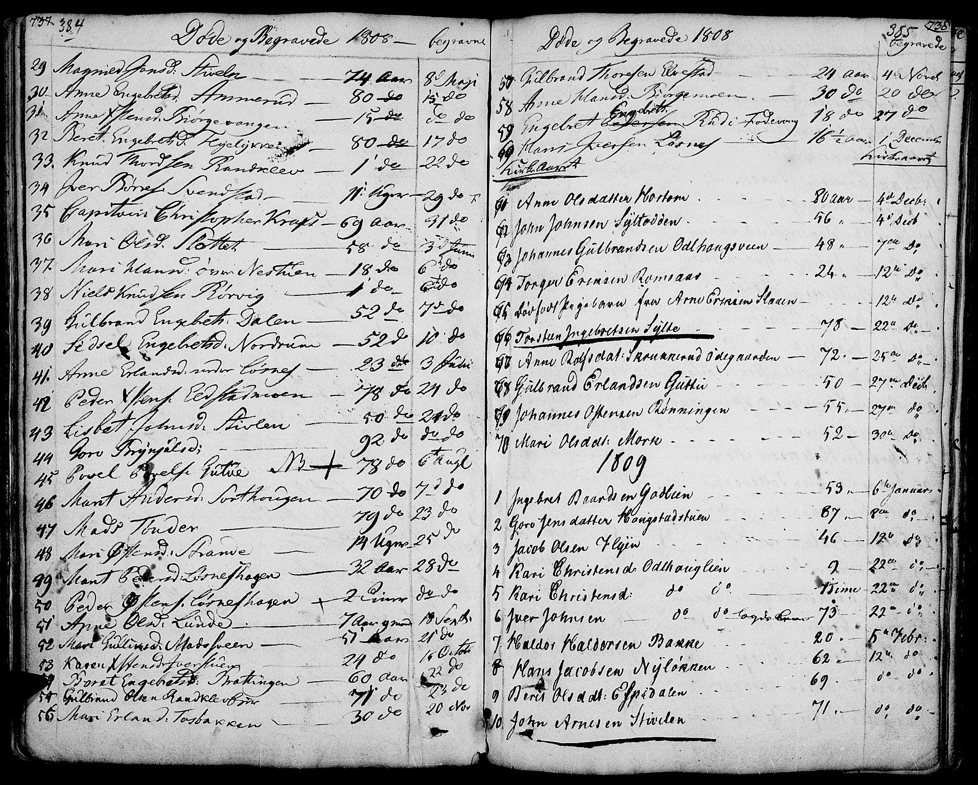 SAH, Ringebu prestekontor, Ministerialbok nr. 3, 1781-1820, s. 384-385