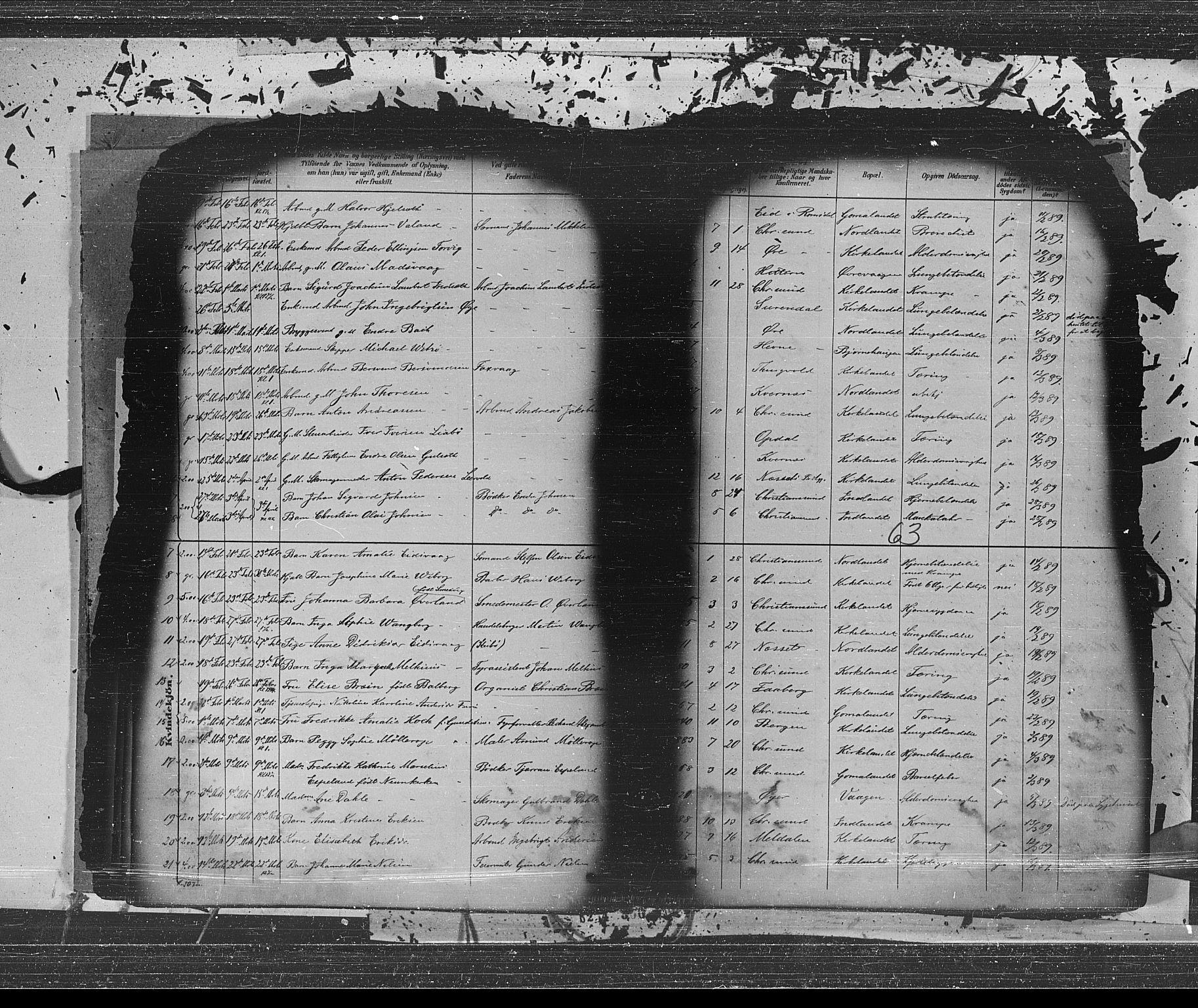 SAT, Ministerialprotokoller, klokkerbøker og fødselsregistre - Møre og Romsdal, 572/L0853: Ministerialbok nr. 572A16, 1880-1901, s. 63