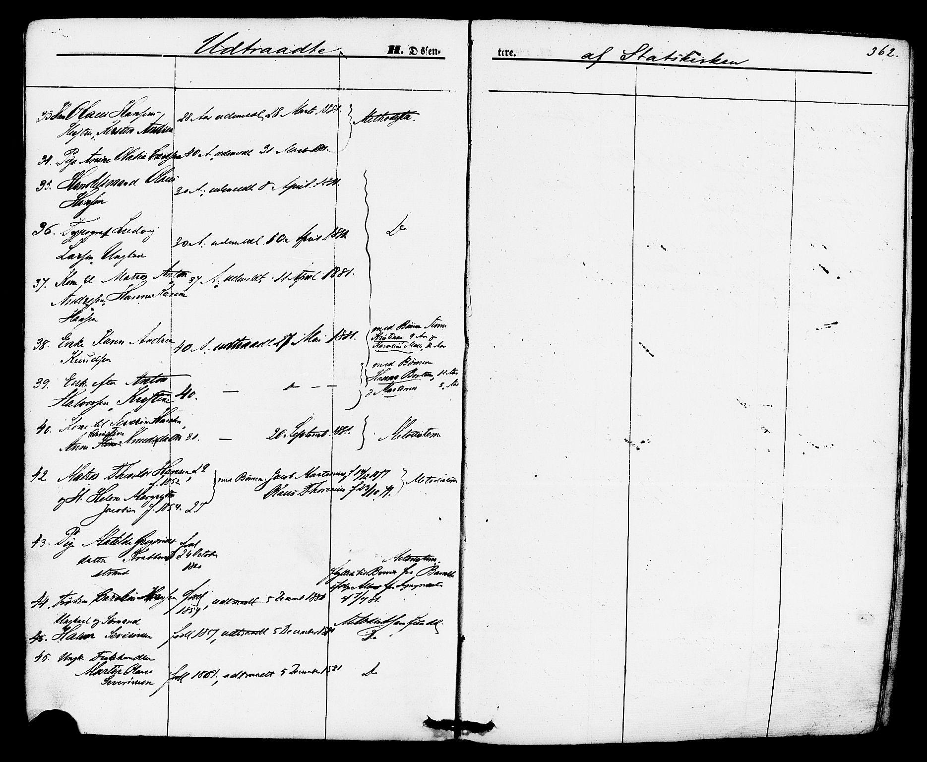 SAKO, Brevik kirkebøker, F/Fa/L0006: Ministerialbok nr. 6, 1866-1881, s. 362