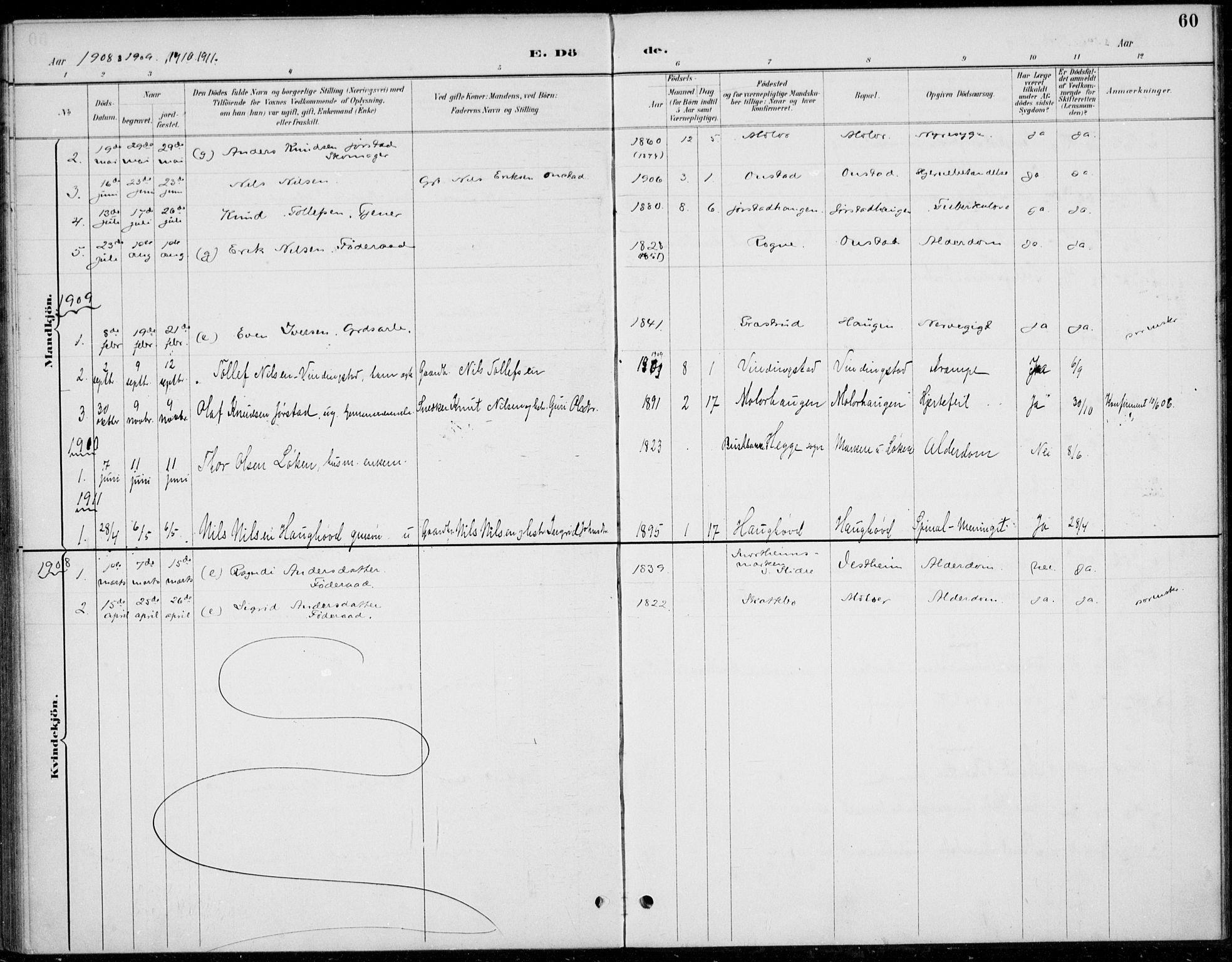 SAH, Øystre Slidre prestekontor, Ministerialbok nr. 5, 1887-1916, s. 60